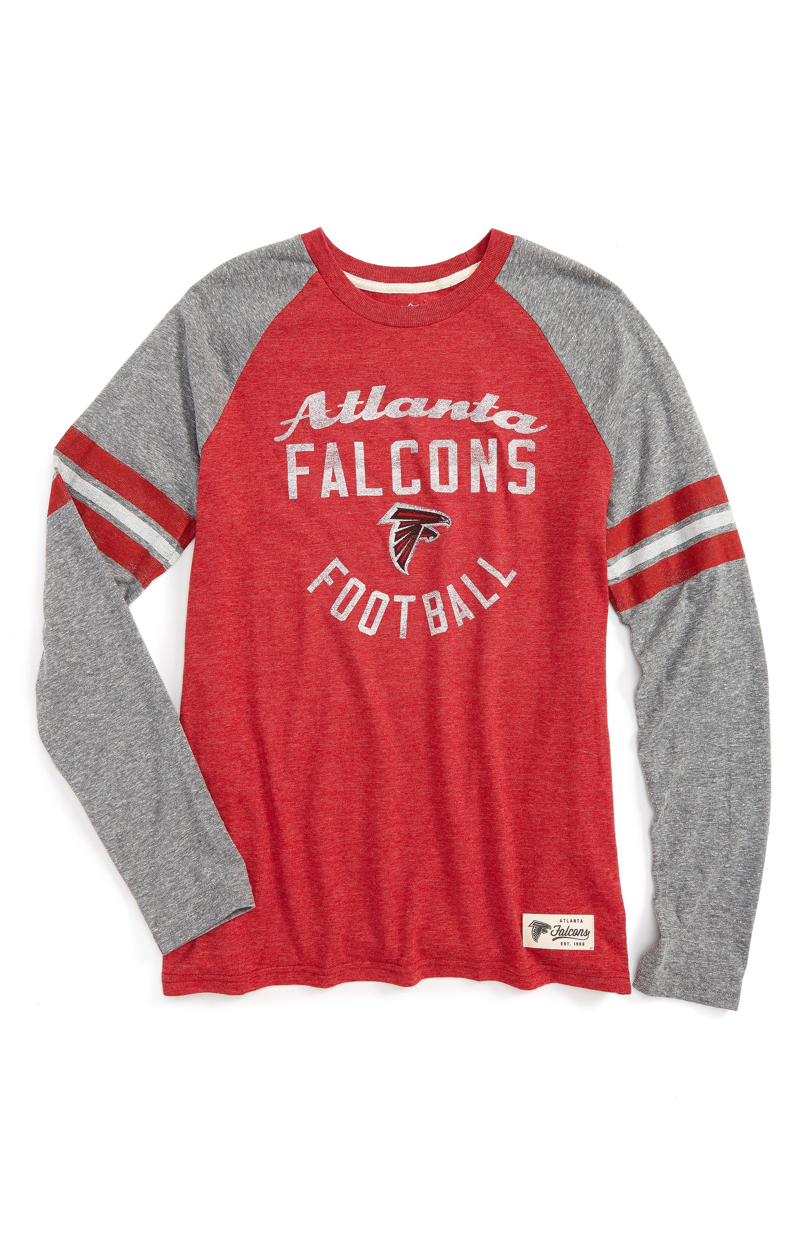 NFL Atlanta Falcons Distressed Logo T-Shirt,                         Main,                         color, Crimson