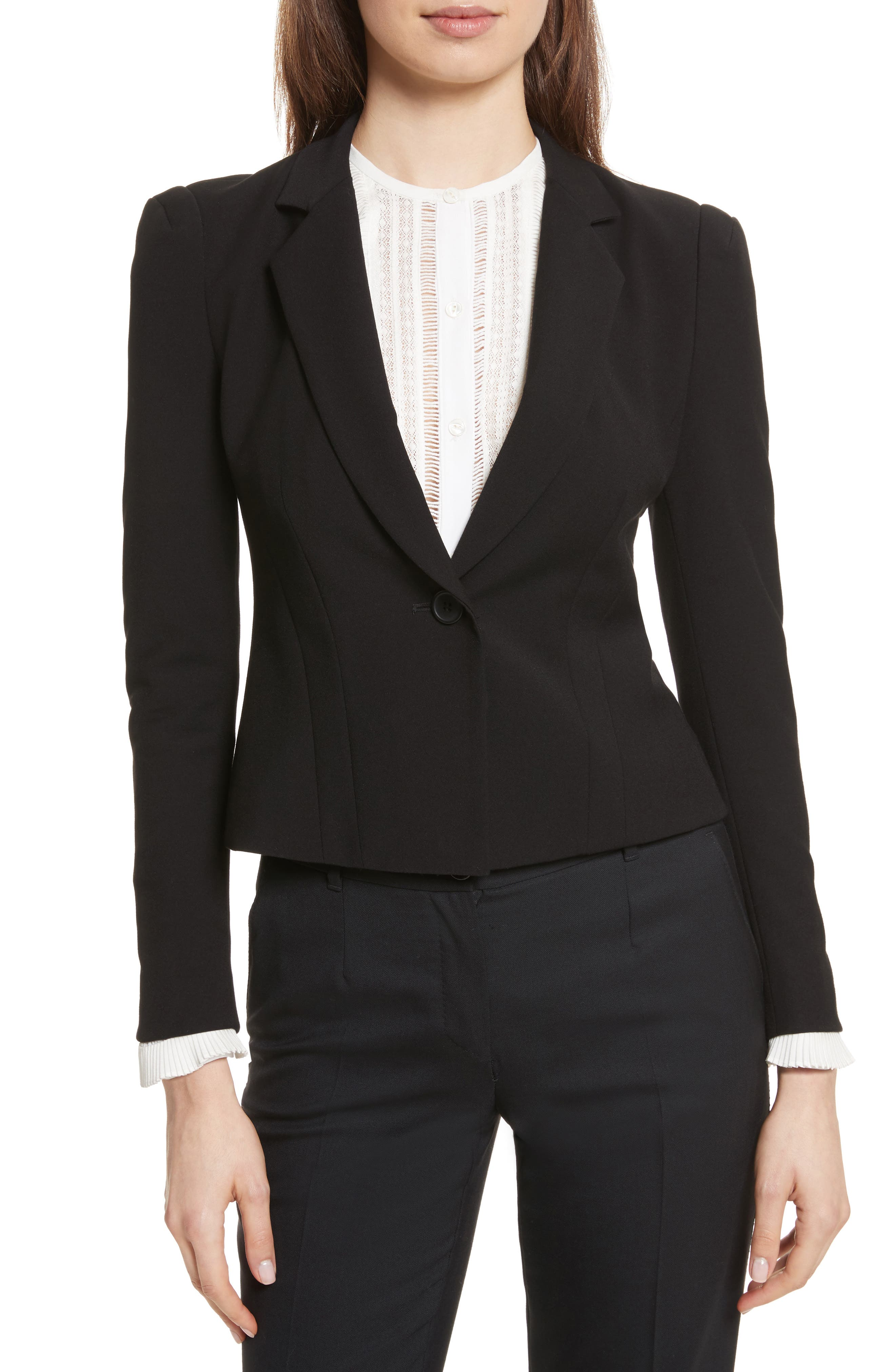 Rebecca Taylor Stretch Suiting Jacket