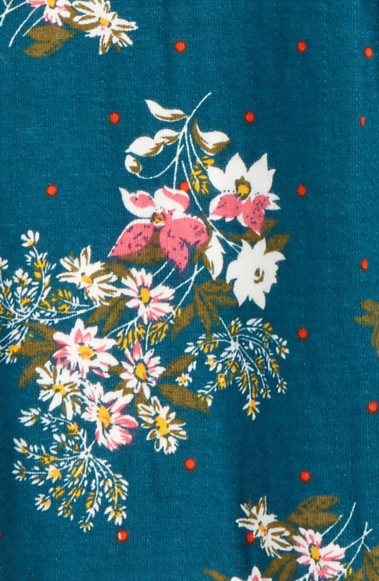 Alternate Image 2  - Tucker + Tate Floral Print Double Knit Tunic (Toddler Girls, Little Girls & Big Girls)