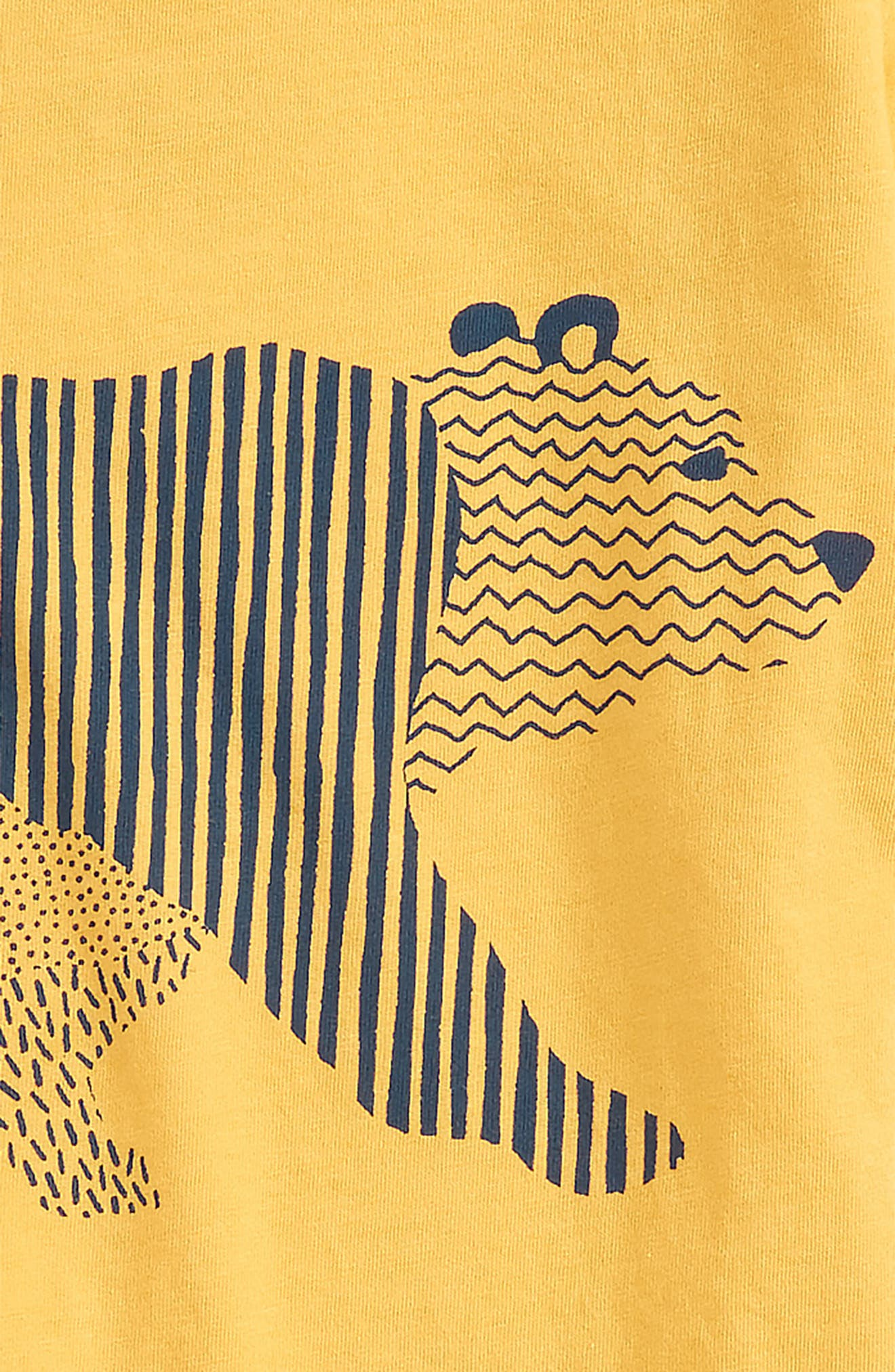 Alternate Image 2  - Peek Geo Walking Bear Graphic T-Shirt (Toddler Boys, Little Boys & Big Boys)