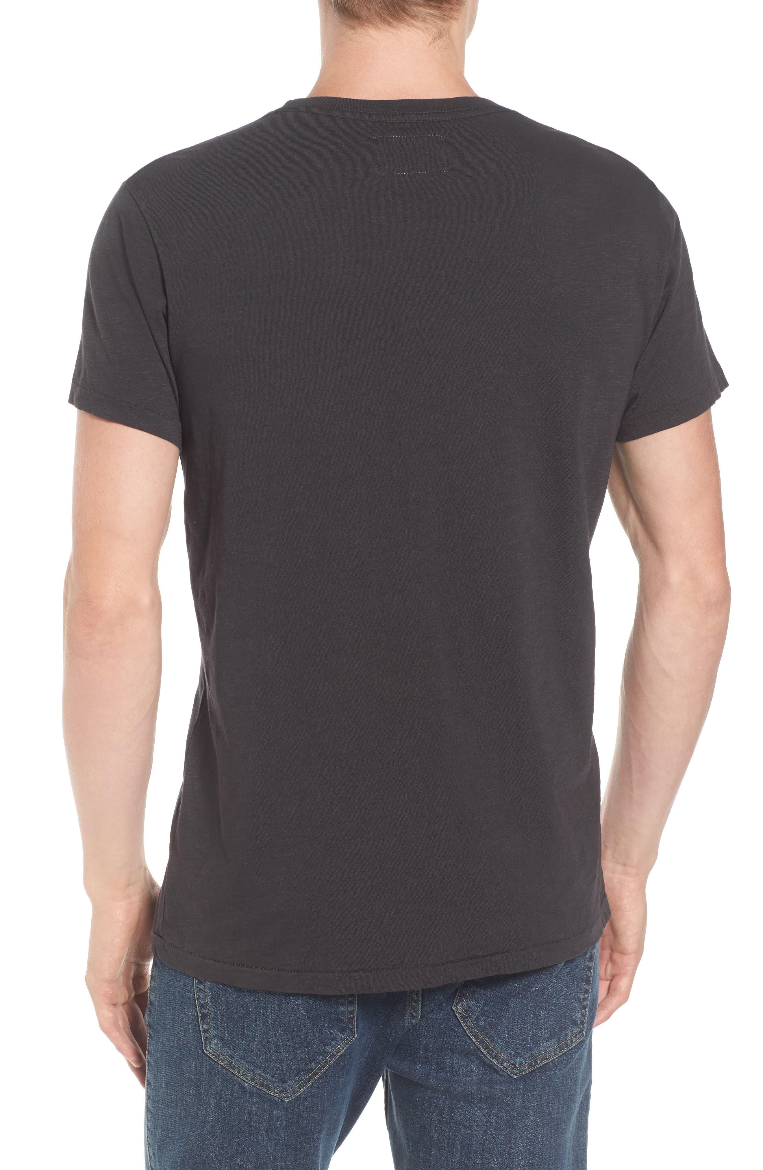 Sunset Eagle Pocket T-Shirt,                             Alternate thumbnail 2, color,                             V Black