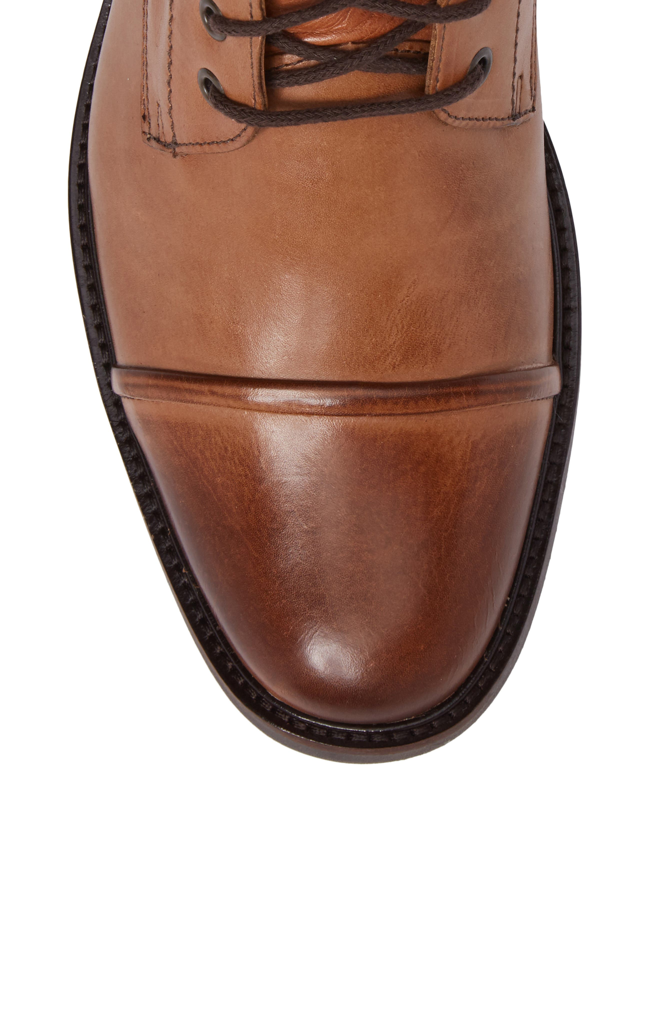Samuel Cap Toe Boot,                             Alternate thumbnail 5, color,                             Touch Bronze Foxy