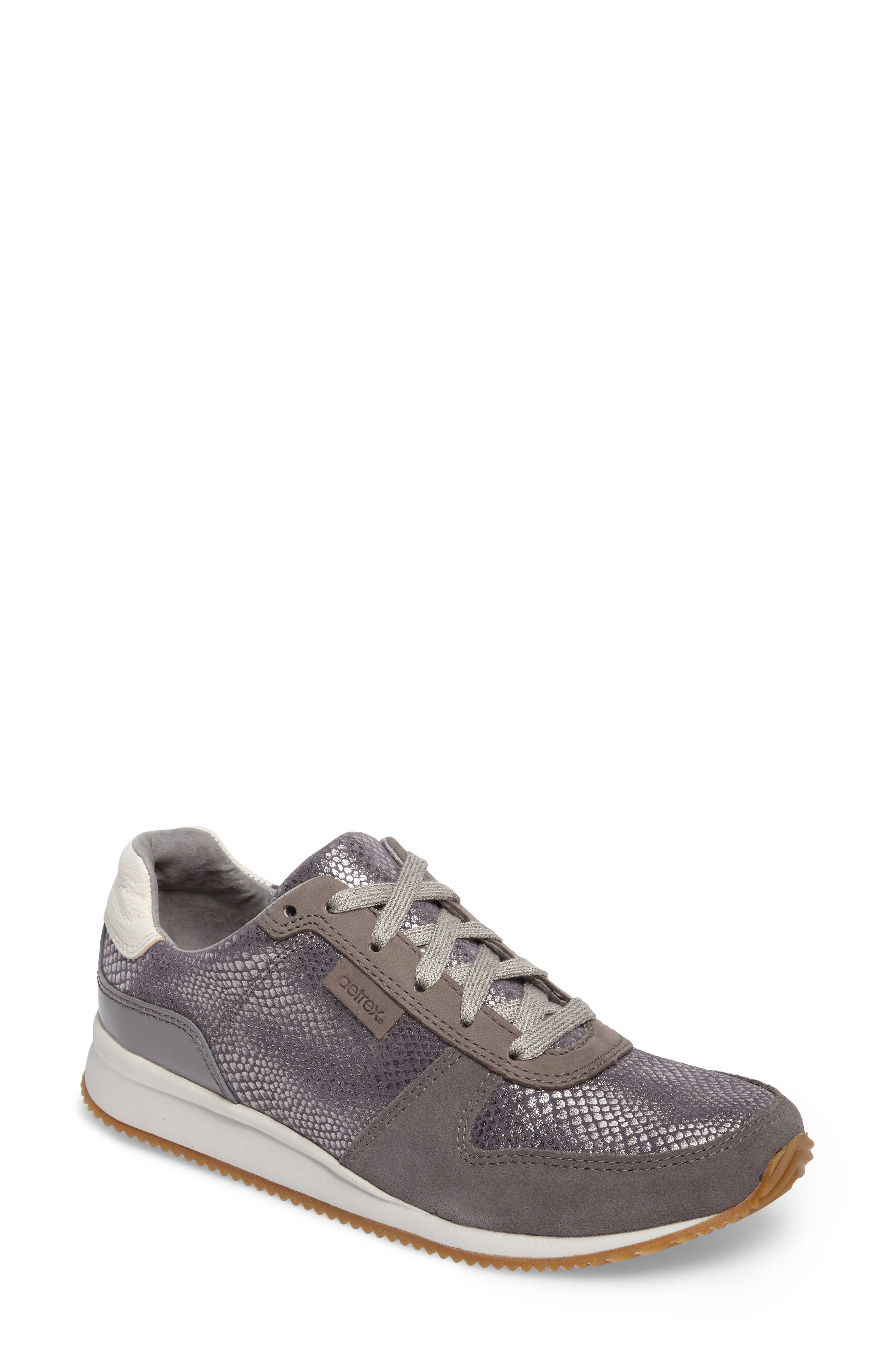 Daphne Sneaker,                             Main thumbnail 1, color,                             Grey Leather
