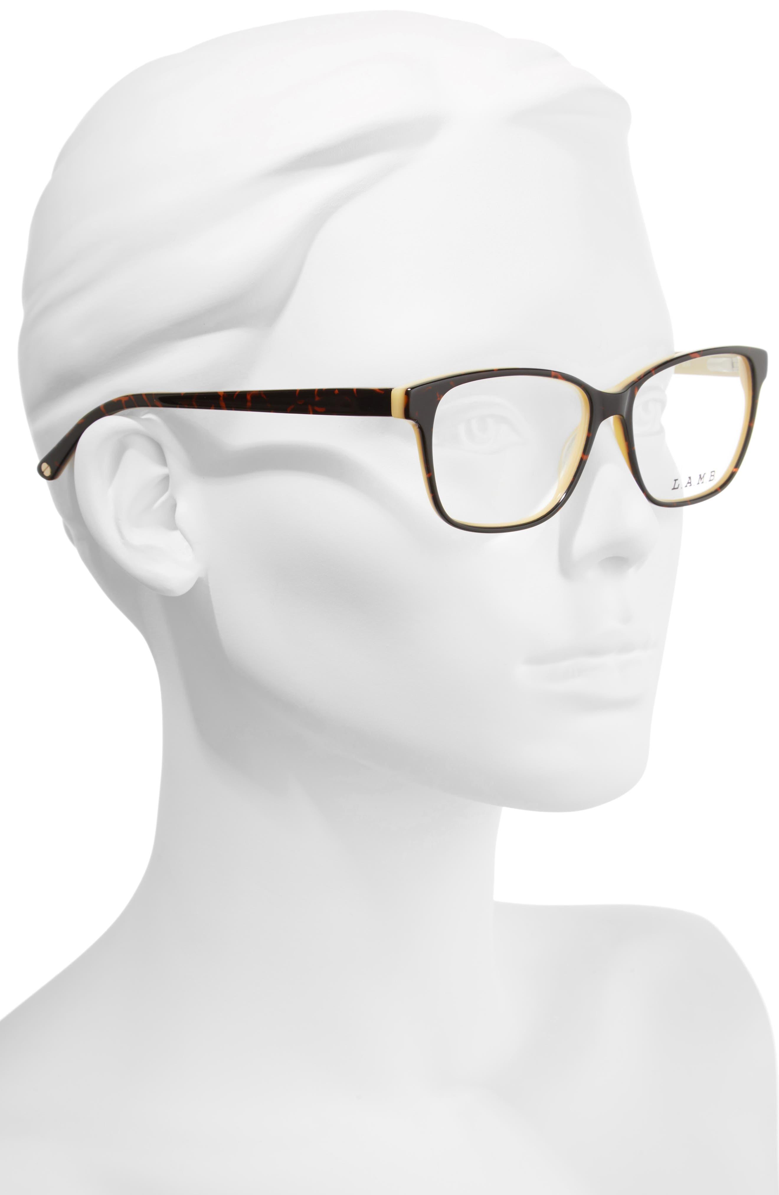 54mm Square Optical Glasses,                             Alternate thumbnail 2, color,                             Yellow