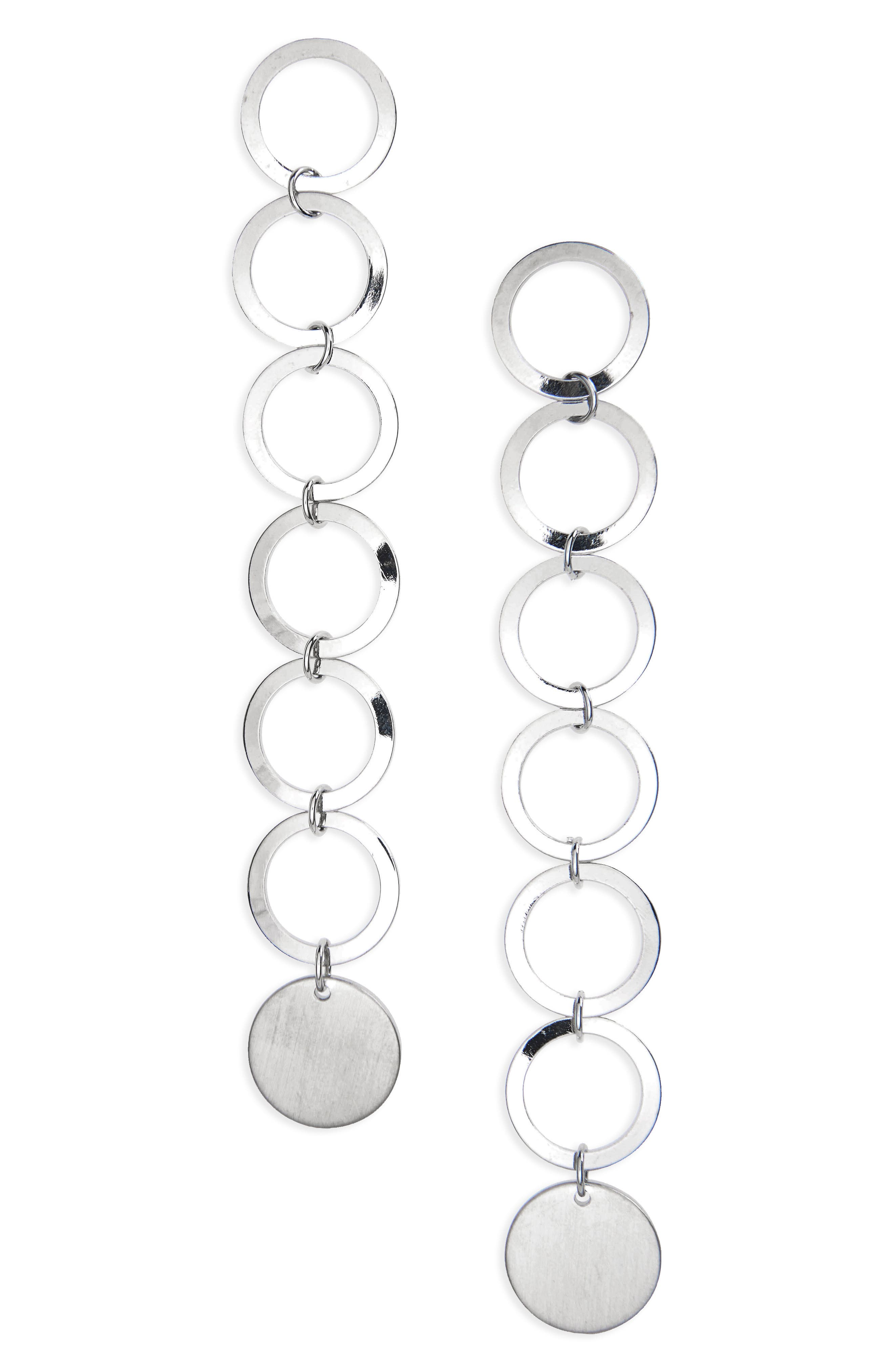 Topshop Long Circle Drop Earrings