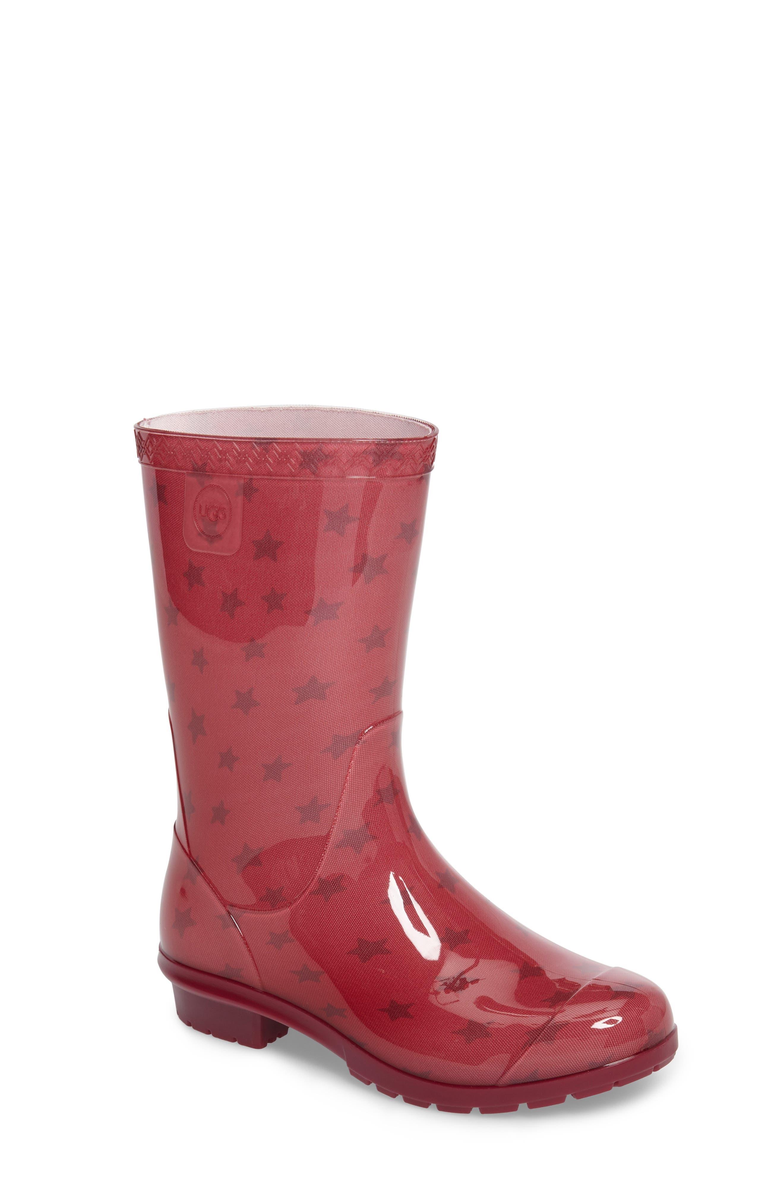 Alternate Image 1 Selected - UGG® Raana Stars Waterproof Rain Boot (Little Kid & Big Kid)