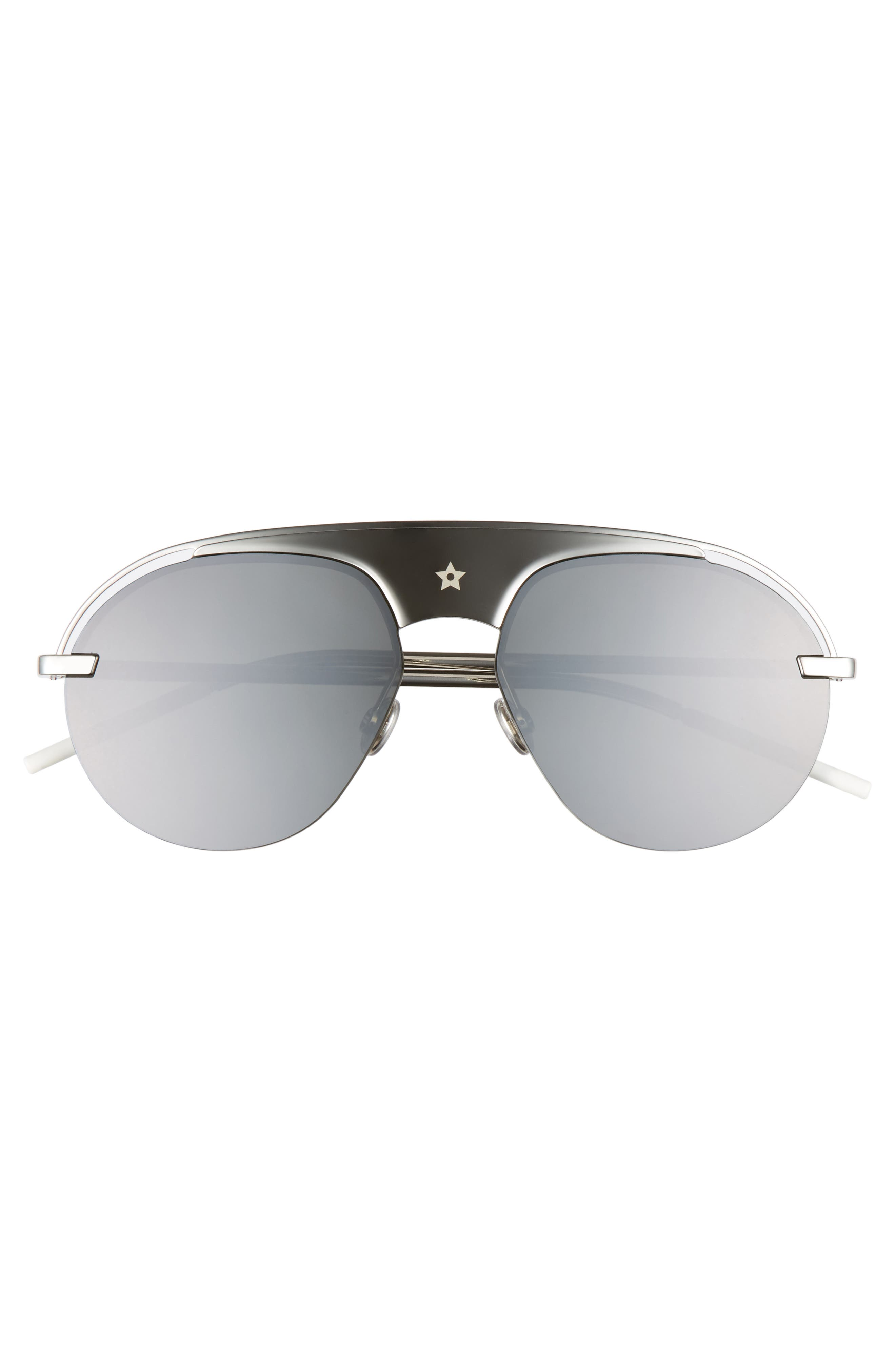 Evolution 2 60mm Aviator Sunglasses,                             Alternate thumbnail 3, color,                             Palladium