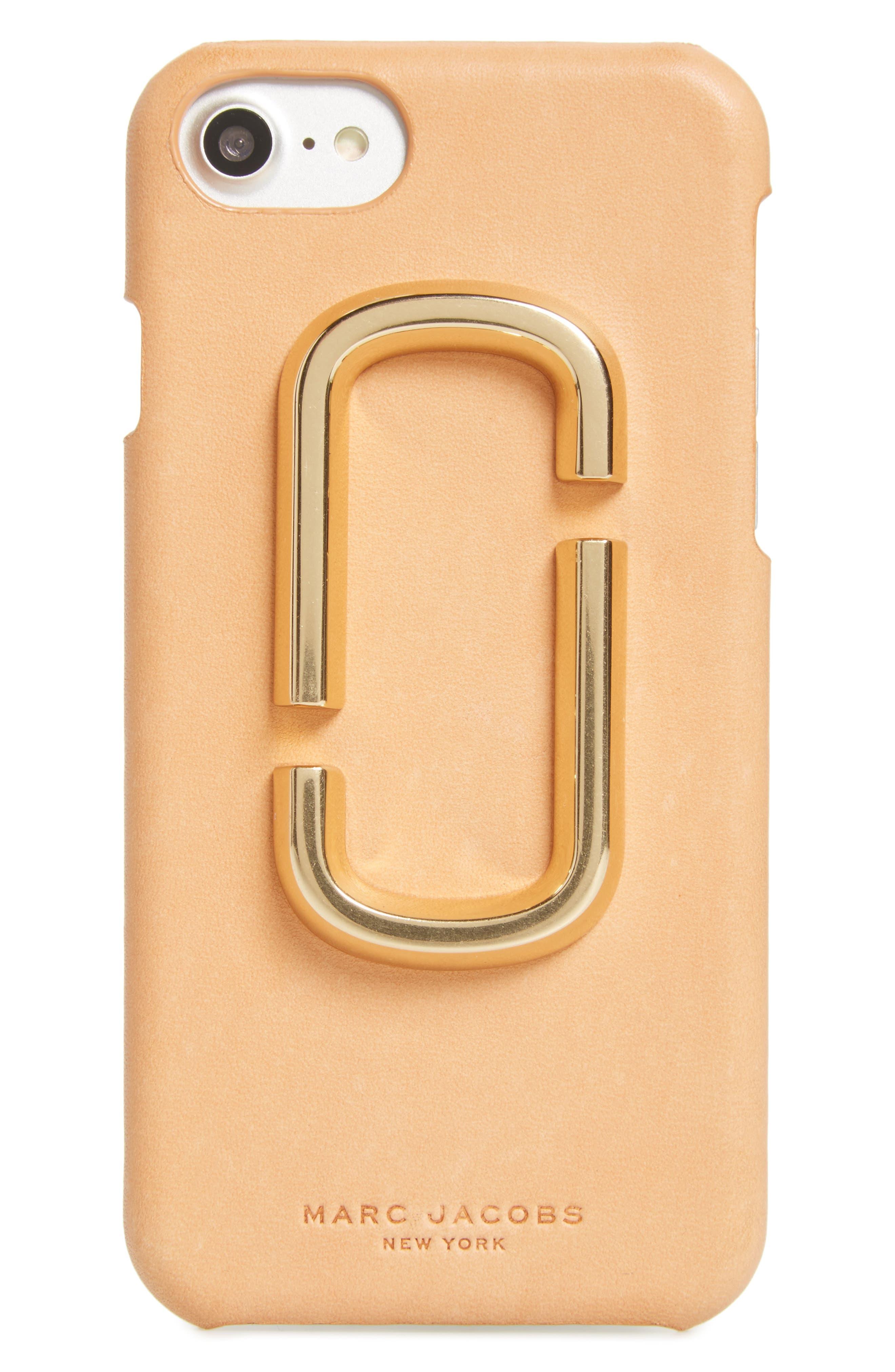 Double-J Logo iPhone 7 Case,                         Main,                         color, Tan