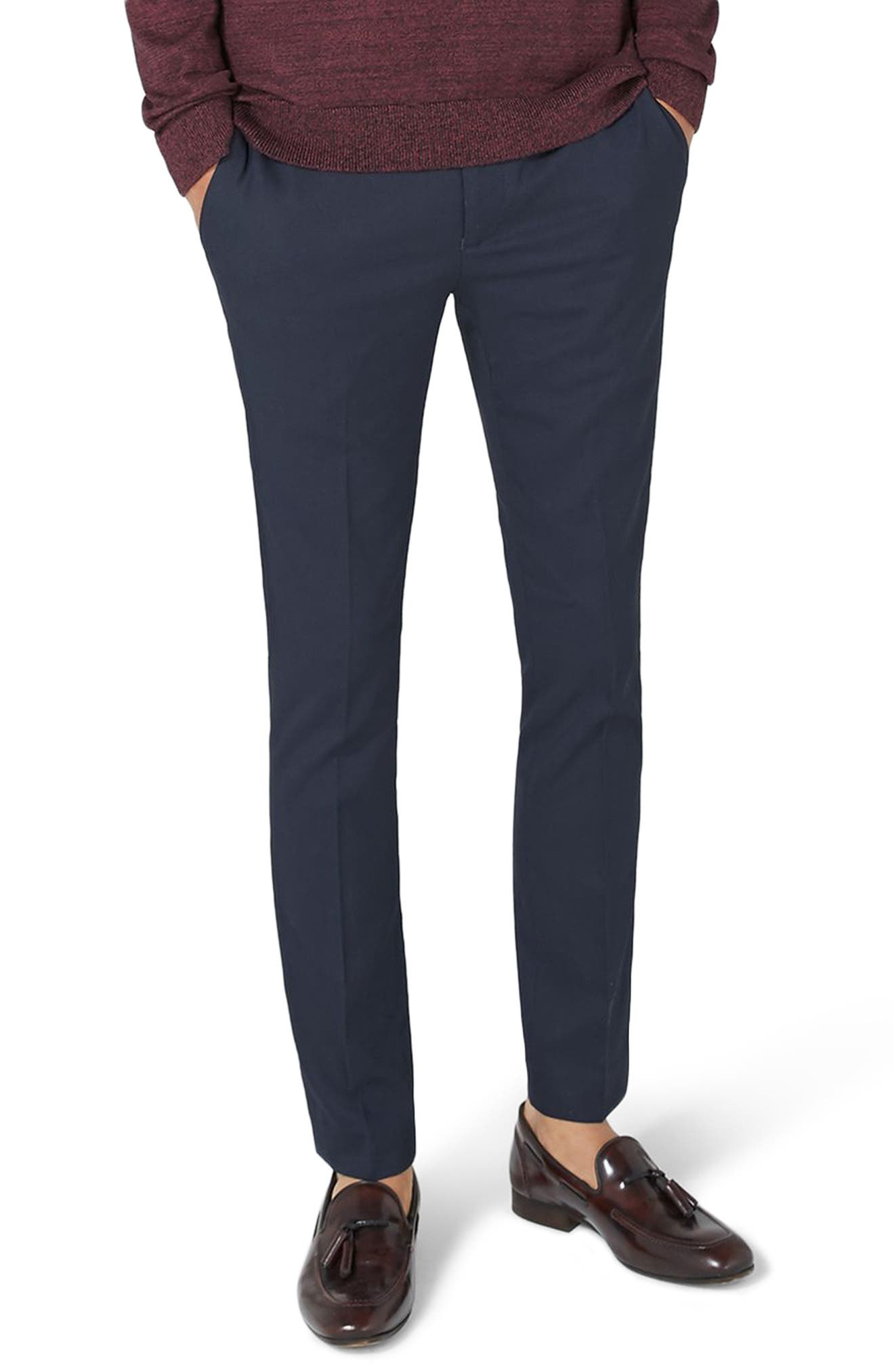 Alternate Image 1 Selected - Topman Ultra Skinny Fit Trousers