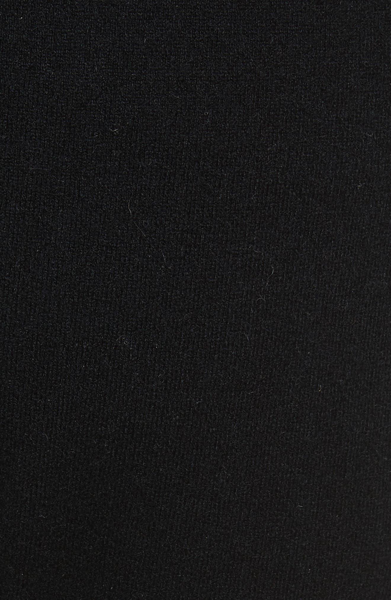Wool & Cashmere Blend Jogger Pants,                             Alternate thumbnail 5, color,                             Black