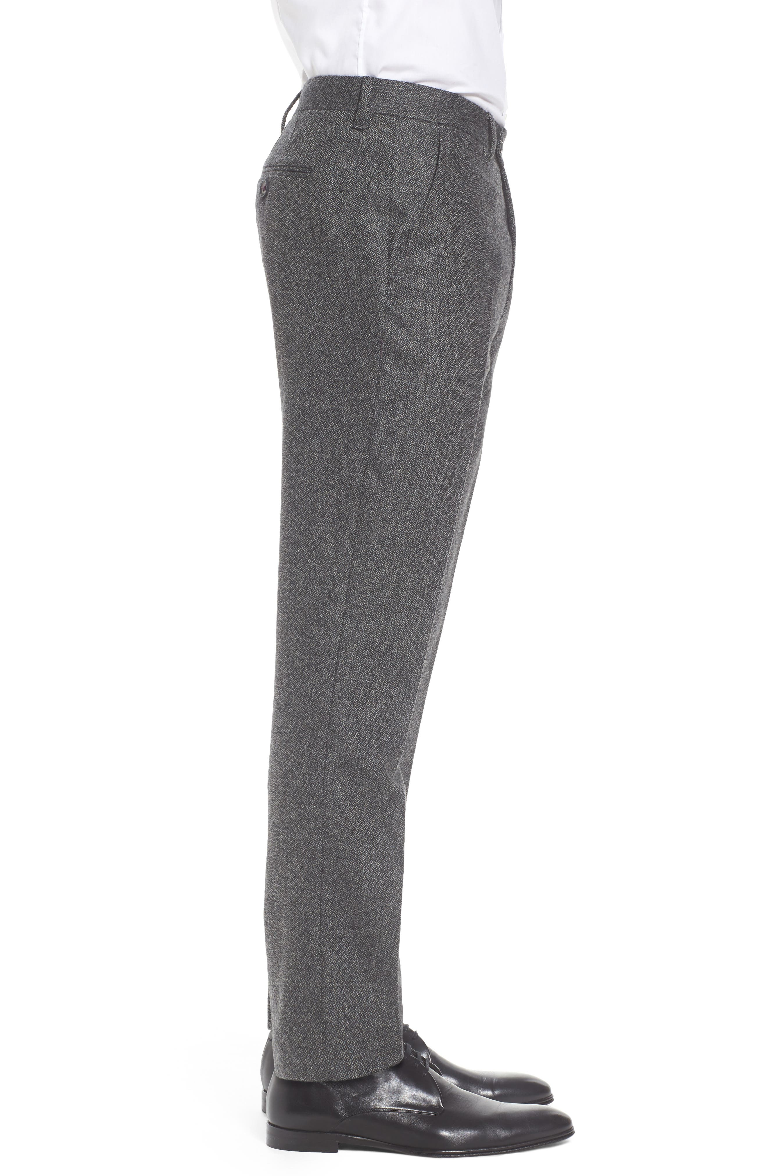 Modern Slim Fit Trousers,                             Alternate thumbnail 3, color,                             Charcoal