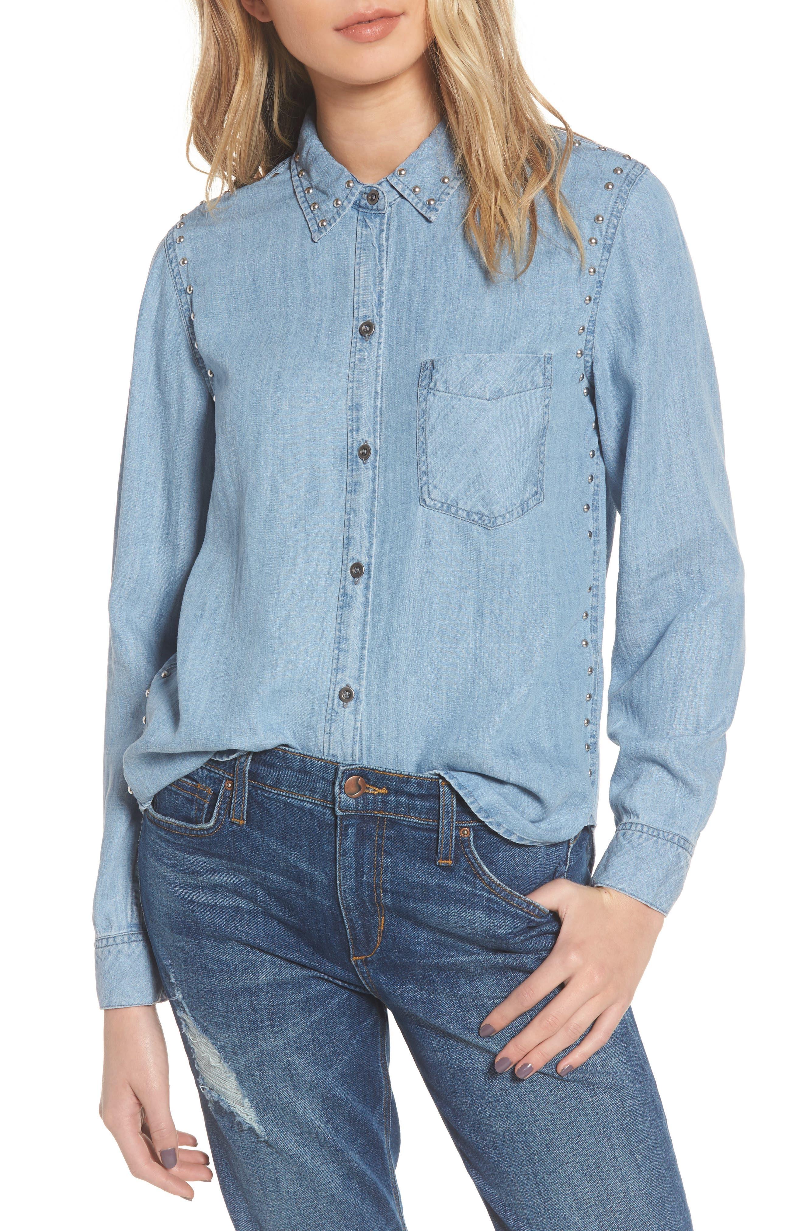 Alternate Image 1 Selected - Rails Ingrid Studded Shirt