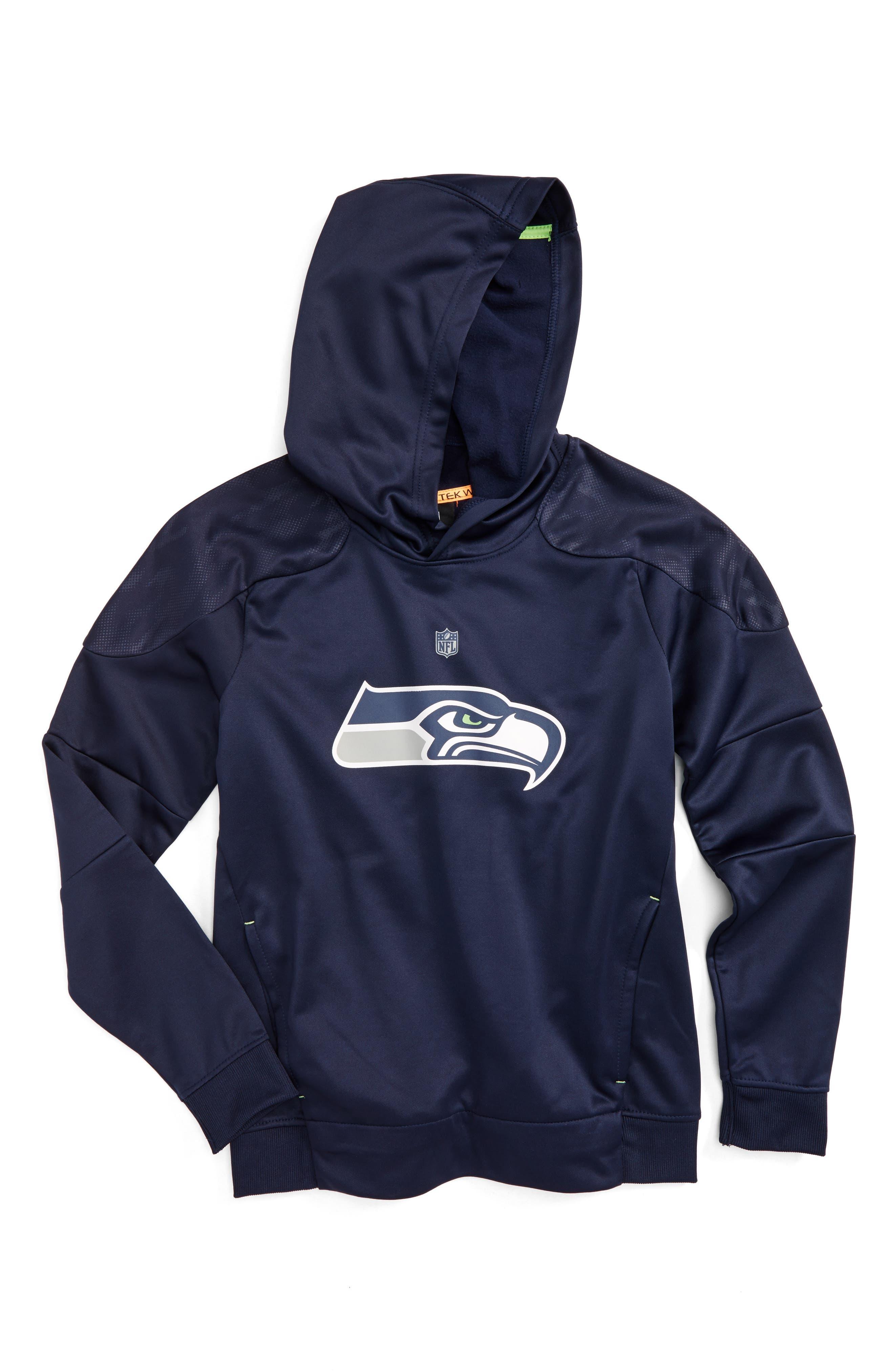 NFL Seattle Seahawks Hoodie,                         Main,                         color, Navy