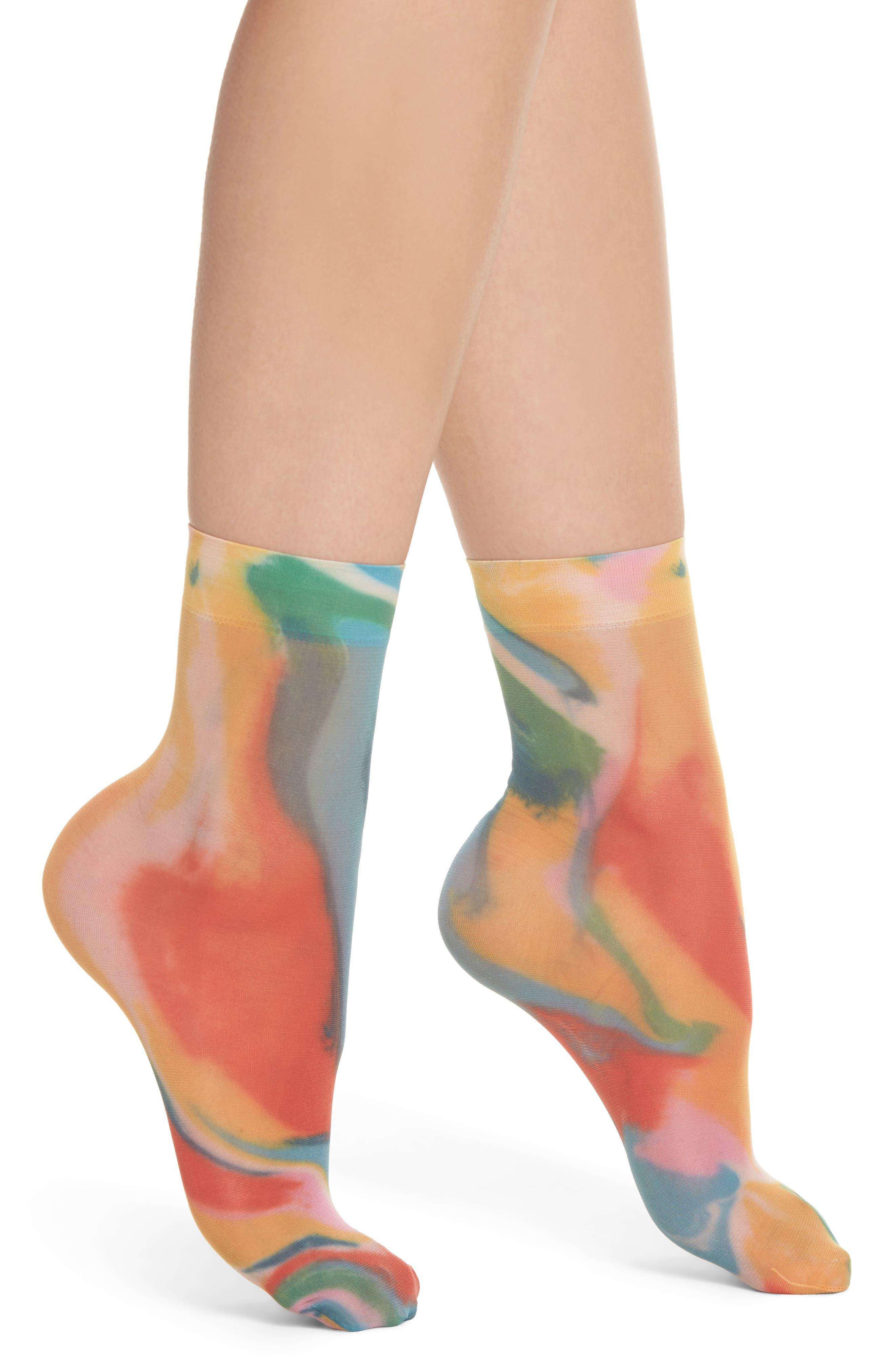 Mia Mosaic Socks,                         Main,                         color, Assorted