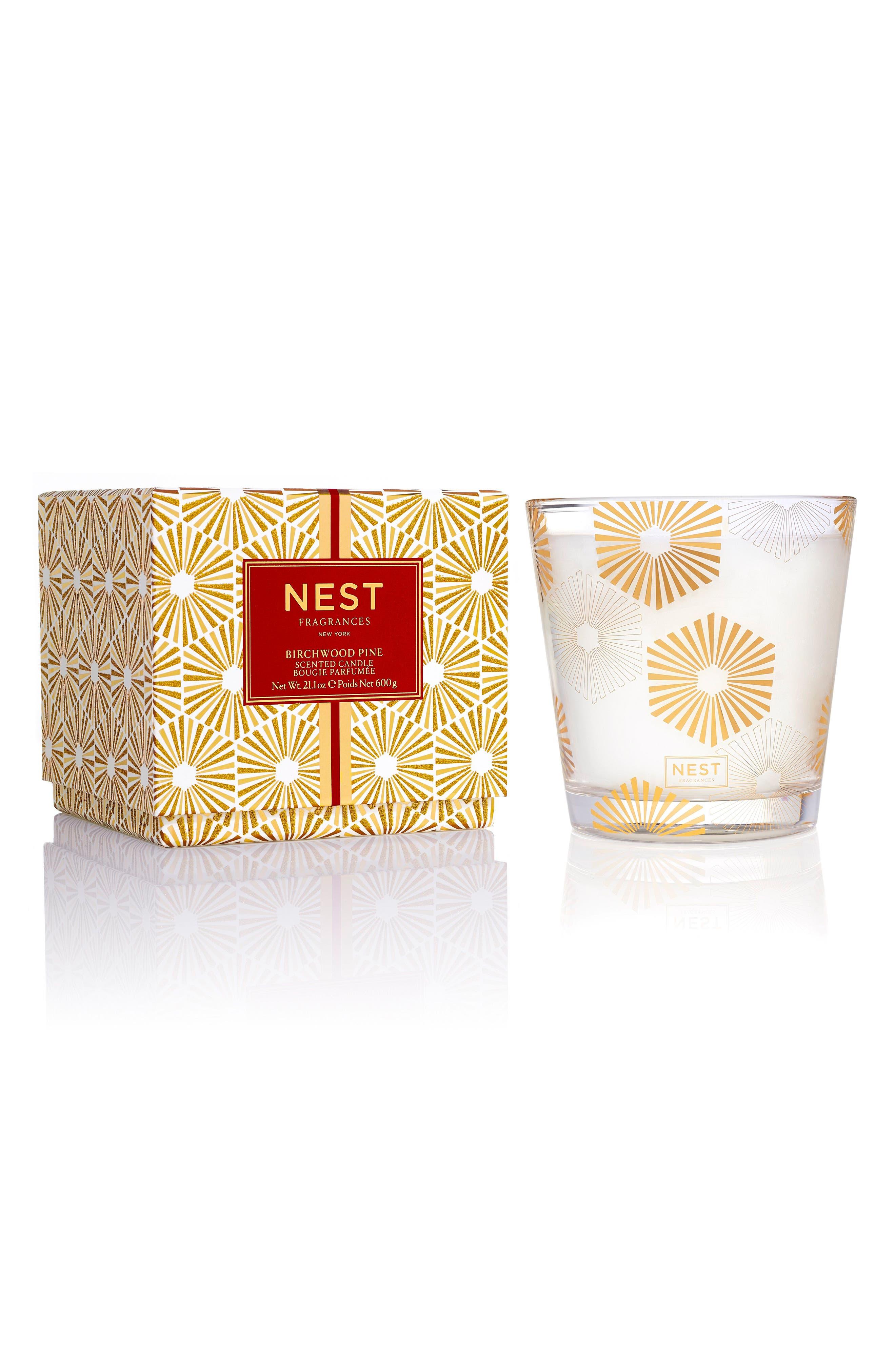 Main Image - NEST Fragrances Birchwood Pine 3-Wick Candle