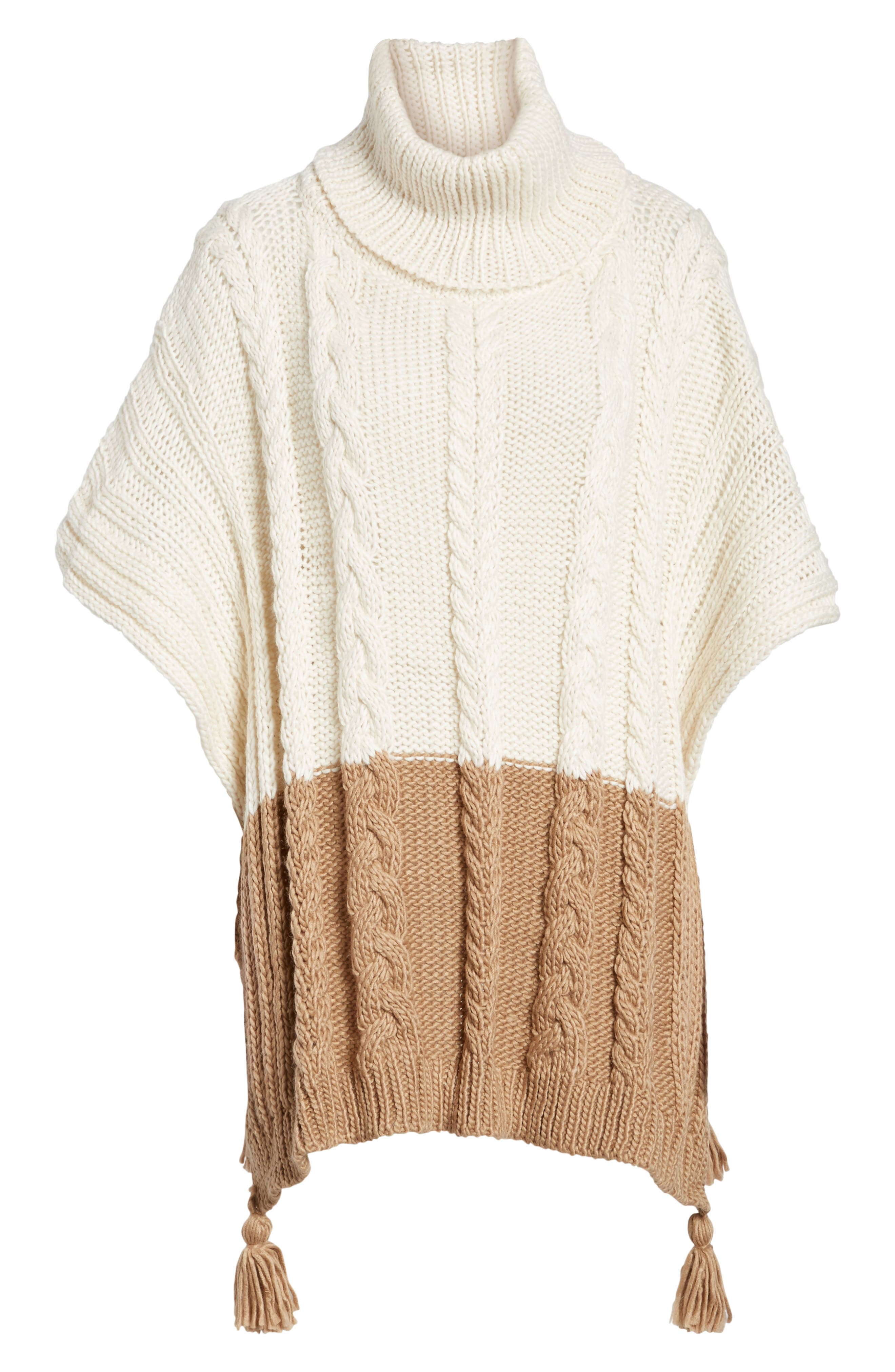 Alternate Image 6  - BCBGMAXAZRIA Cable Knit Poncho