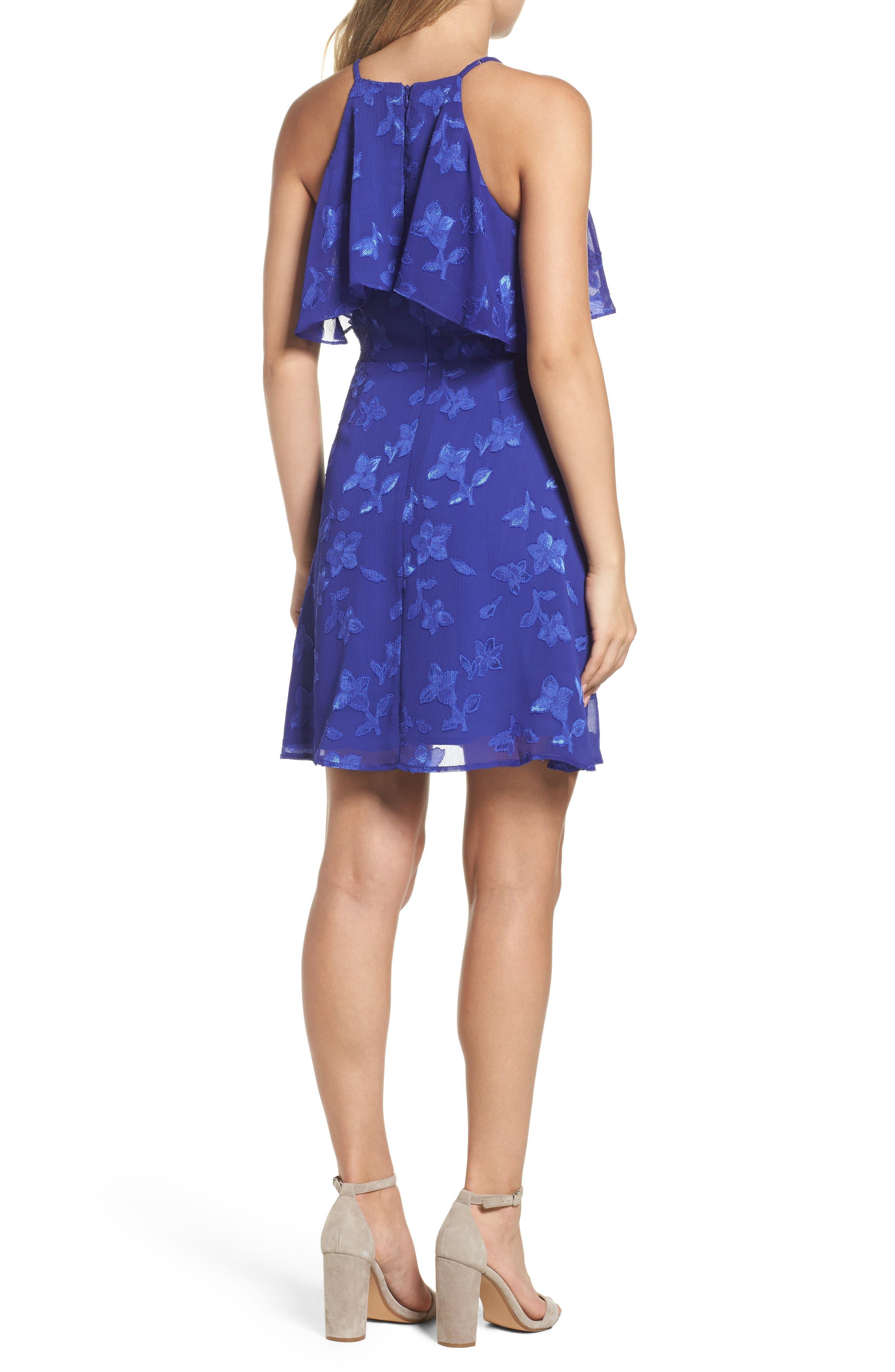 Alternate Image 2  - 19 Cooper Jacquard Flower Popover Dress