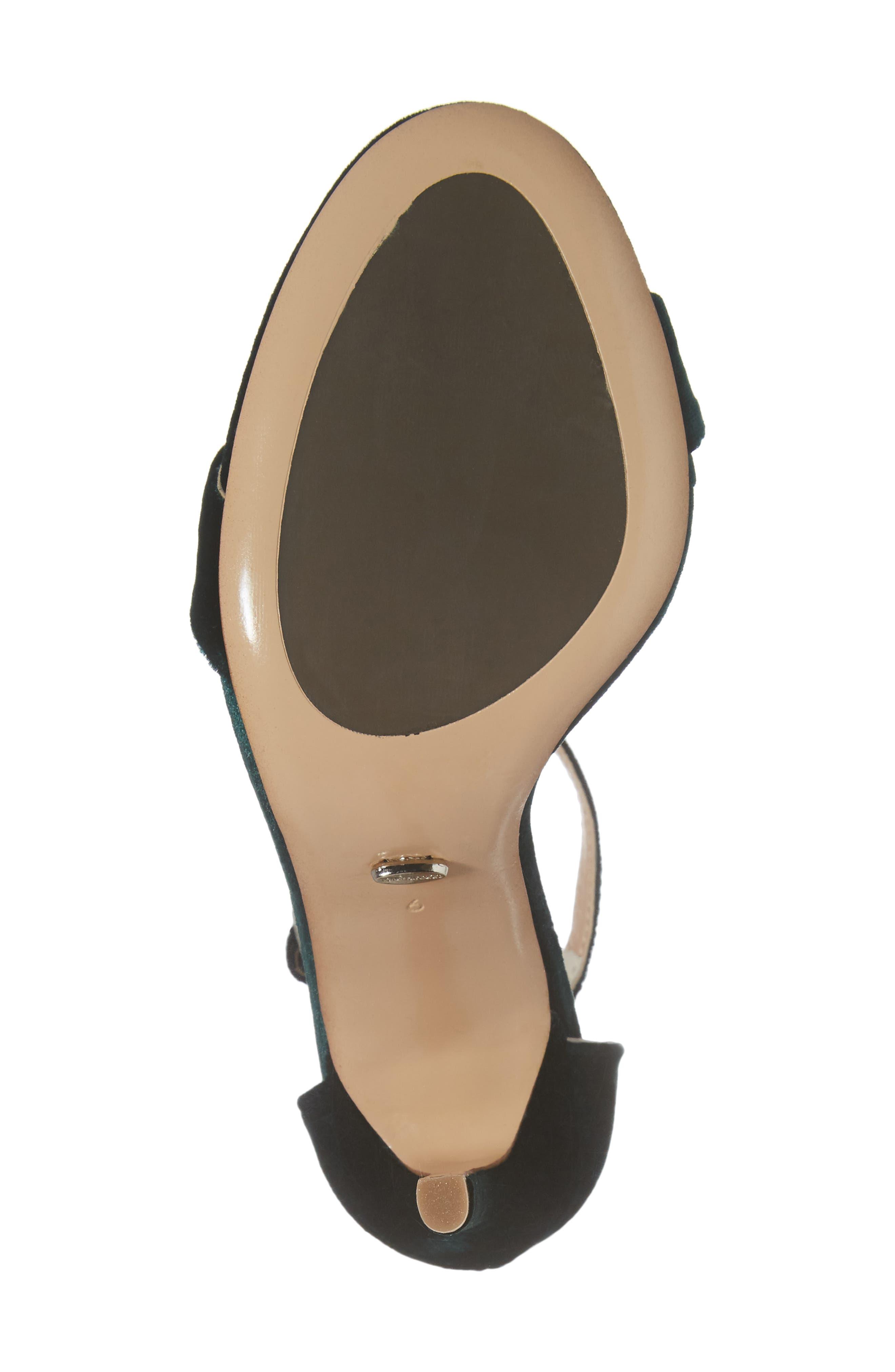 Karvan Ankle Strap Sandal,                             Alternate thumbnail 6, color,                             Forest Velvet