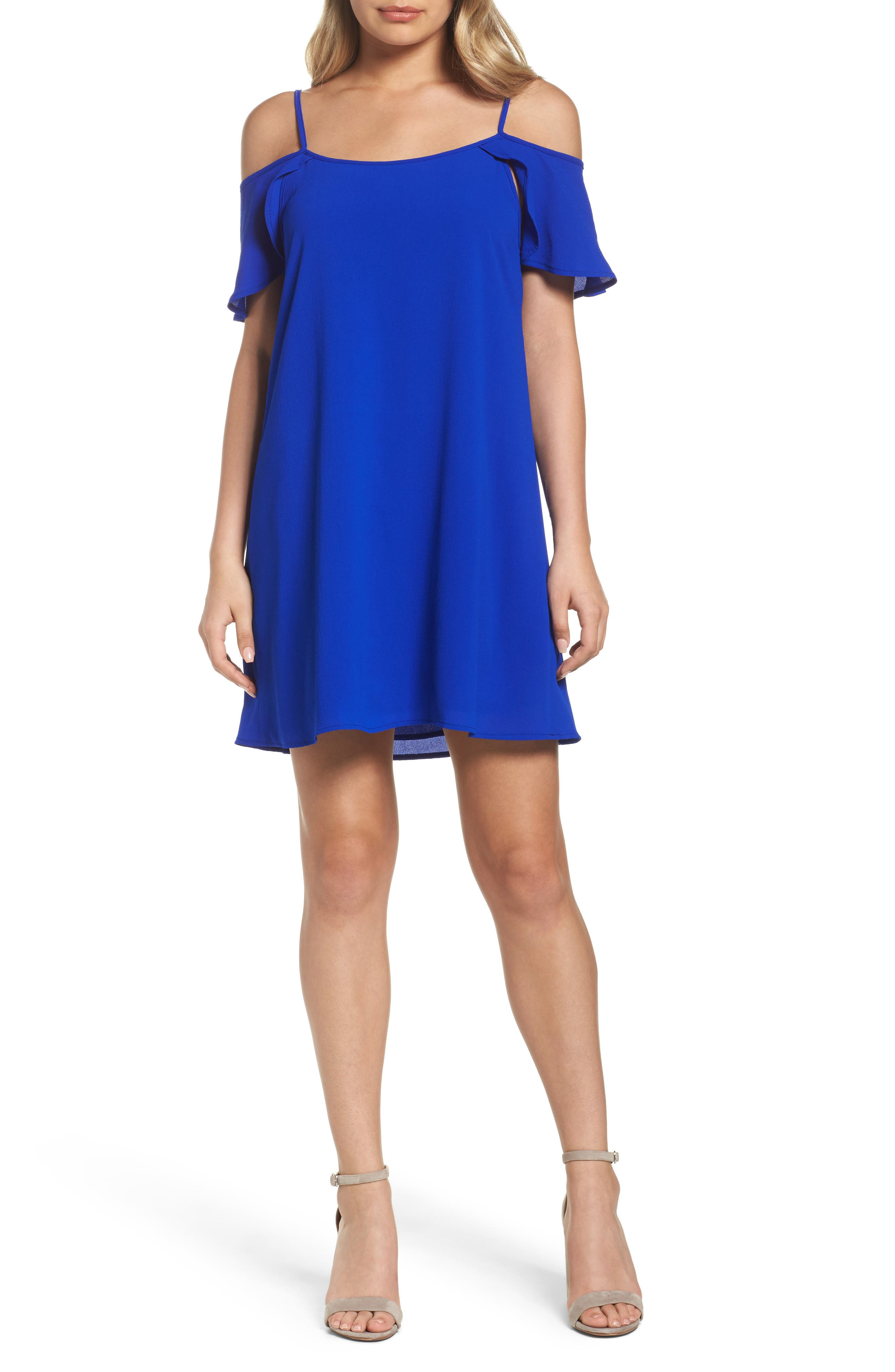 Main Image - Mary & Mabel Cold Shoulder Swing Dress