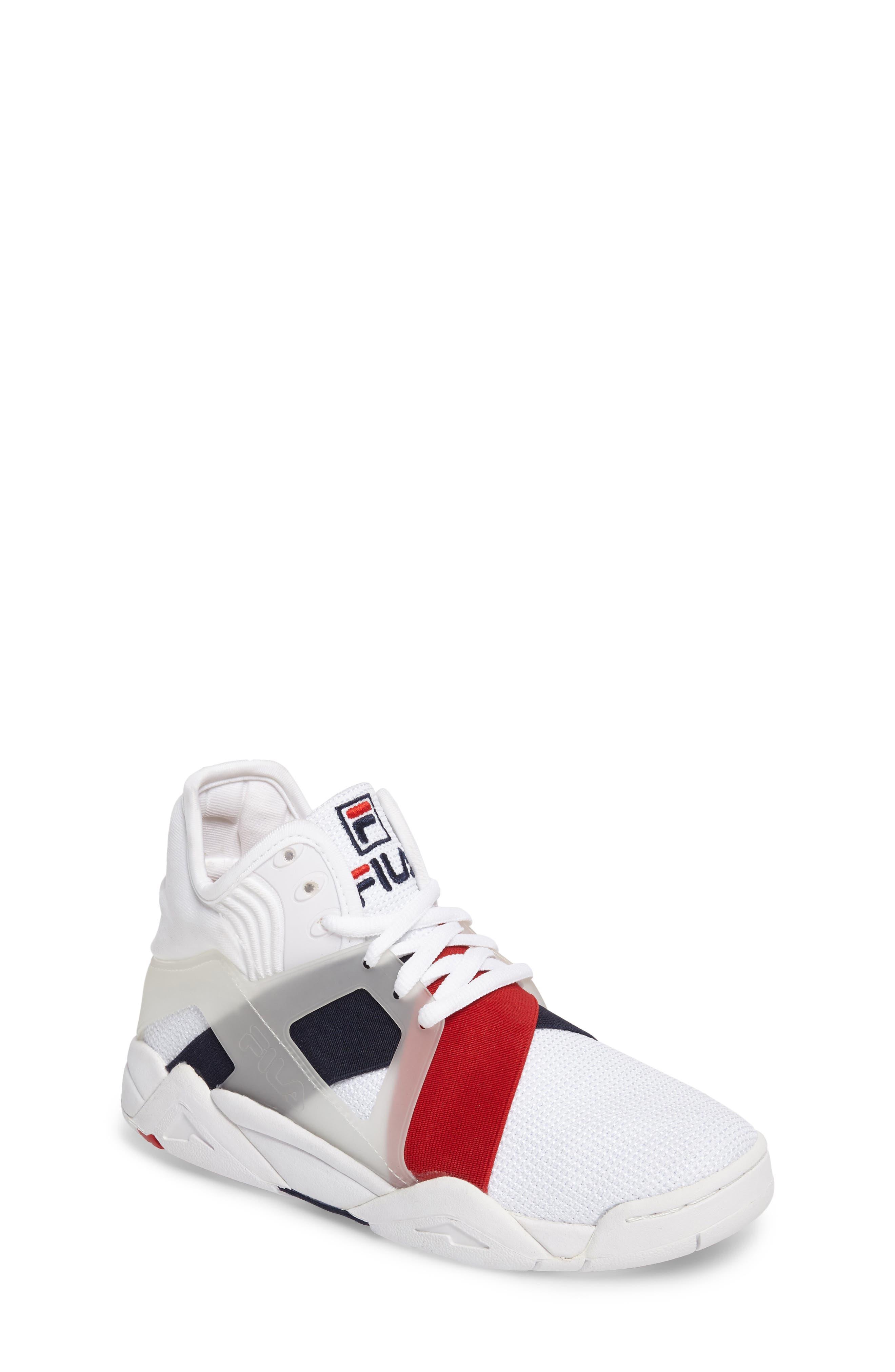 FILA Cage 17 Logo High Top Sneaker (Big Kid)