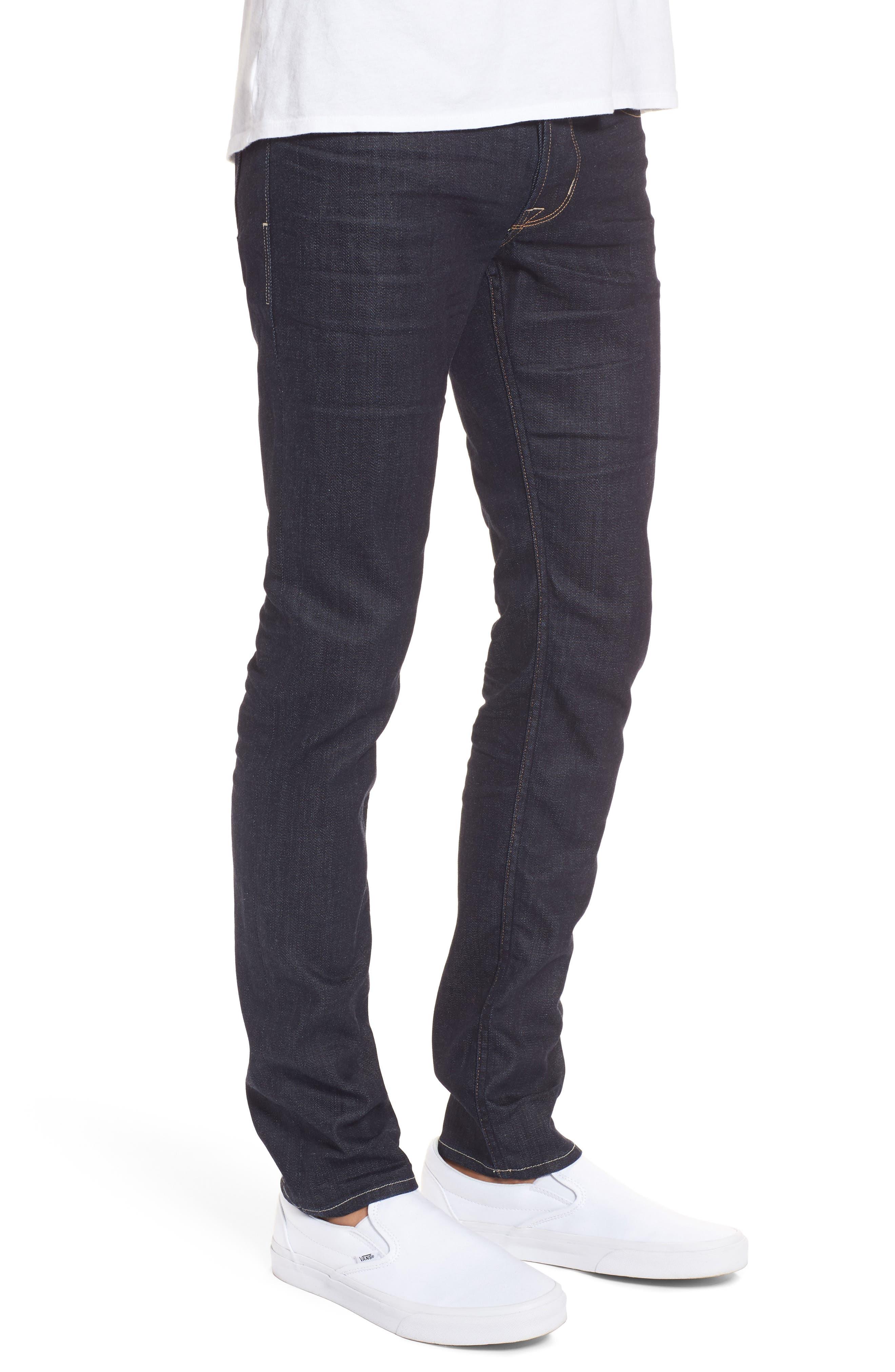 Hudson Axl Skinny Fit Jeans,                             Alternate thumbnail 3, color,                             Fiend
