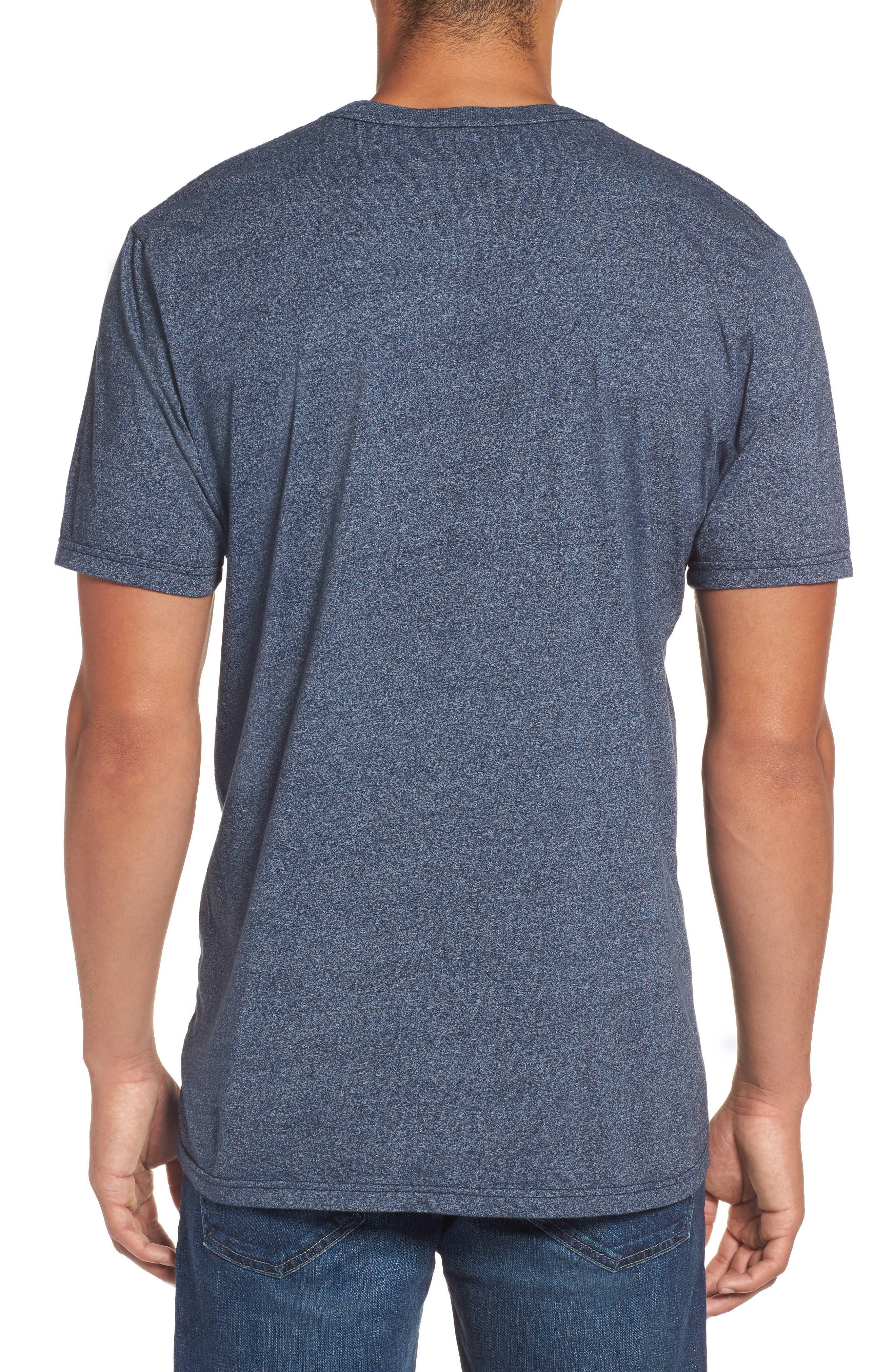 Pumped Mock Twist Graphic T-Shirt,                             Alternate thumbnail 2, color,                             Navy