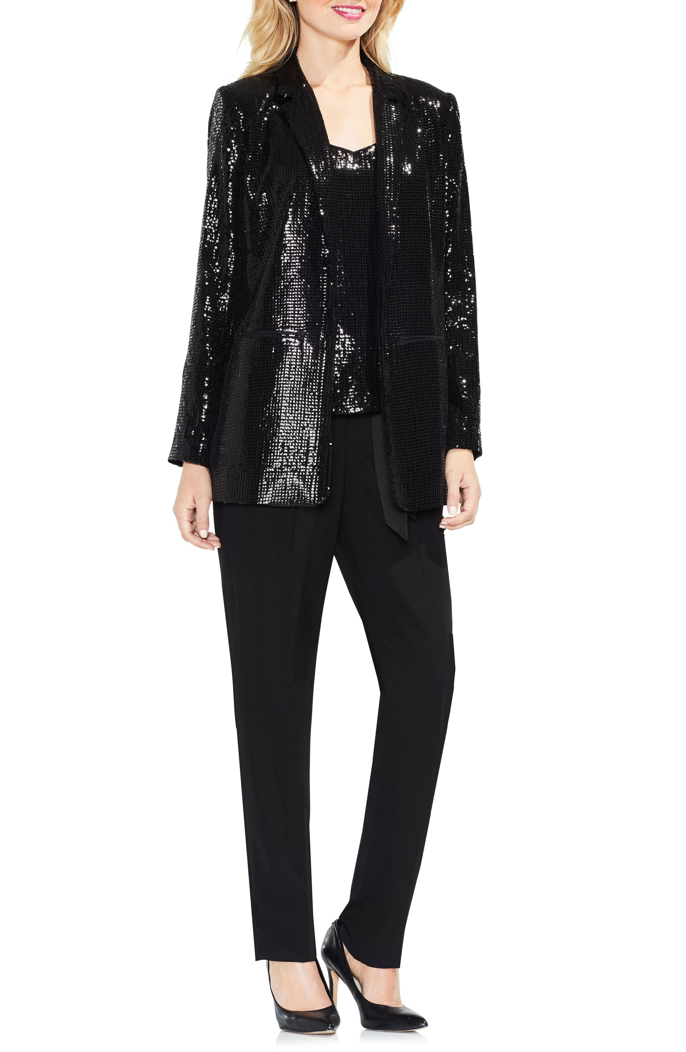 Sequin Jacket,                             Alternate thumbnail 2, color,                             Rich Black
