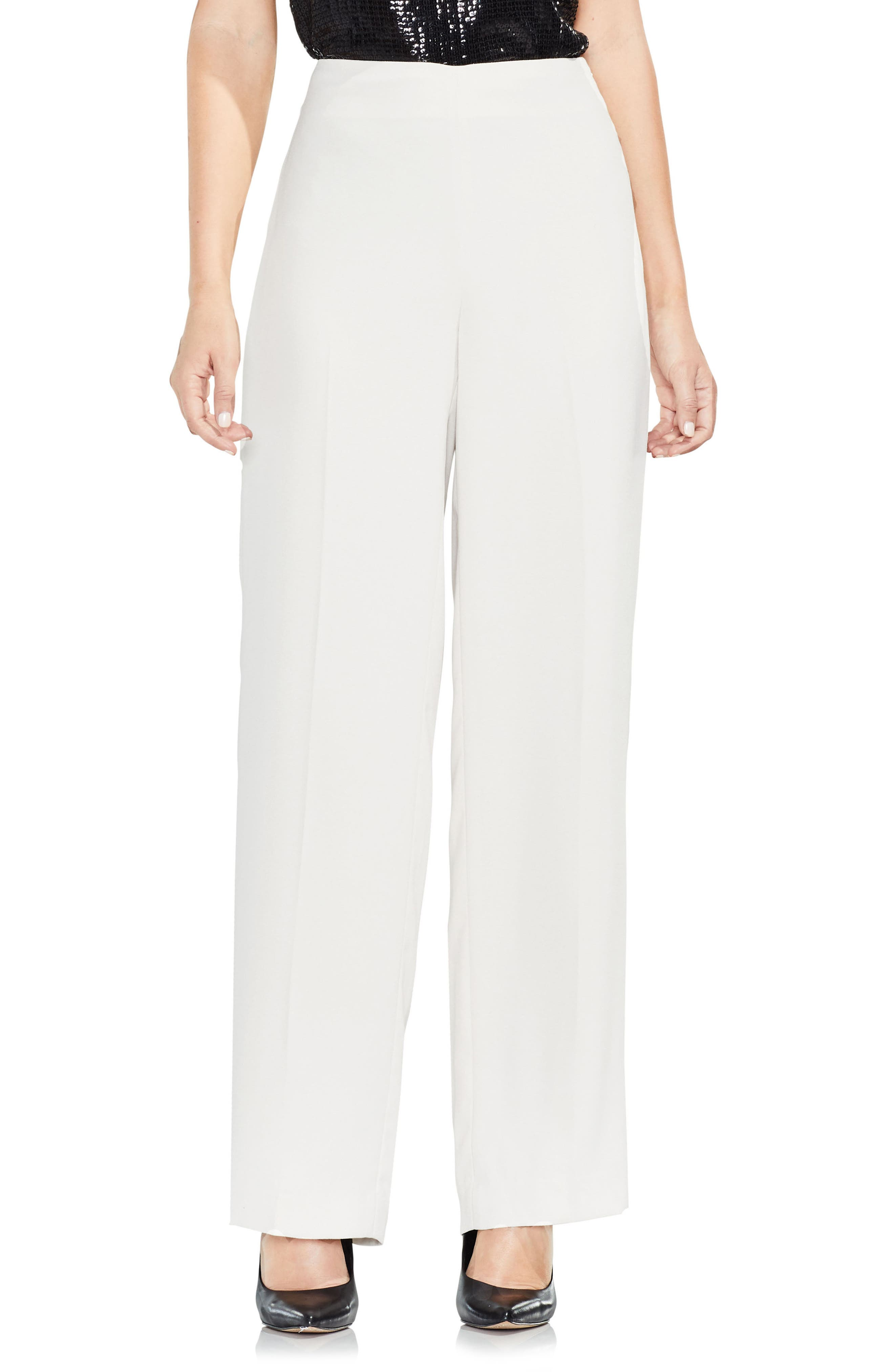Wide Leg Pants,                         Main,                         color, Pearl Ivory