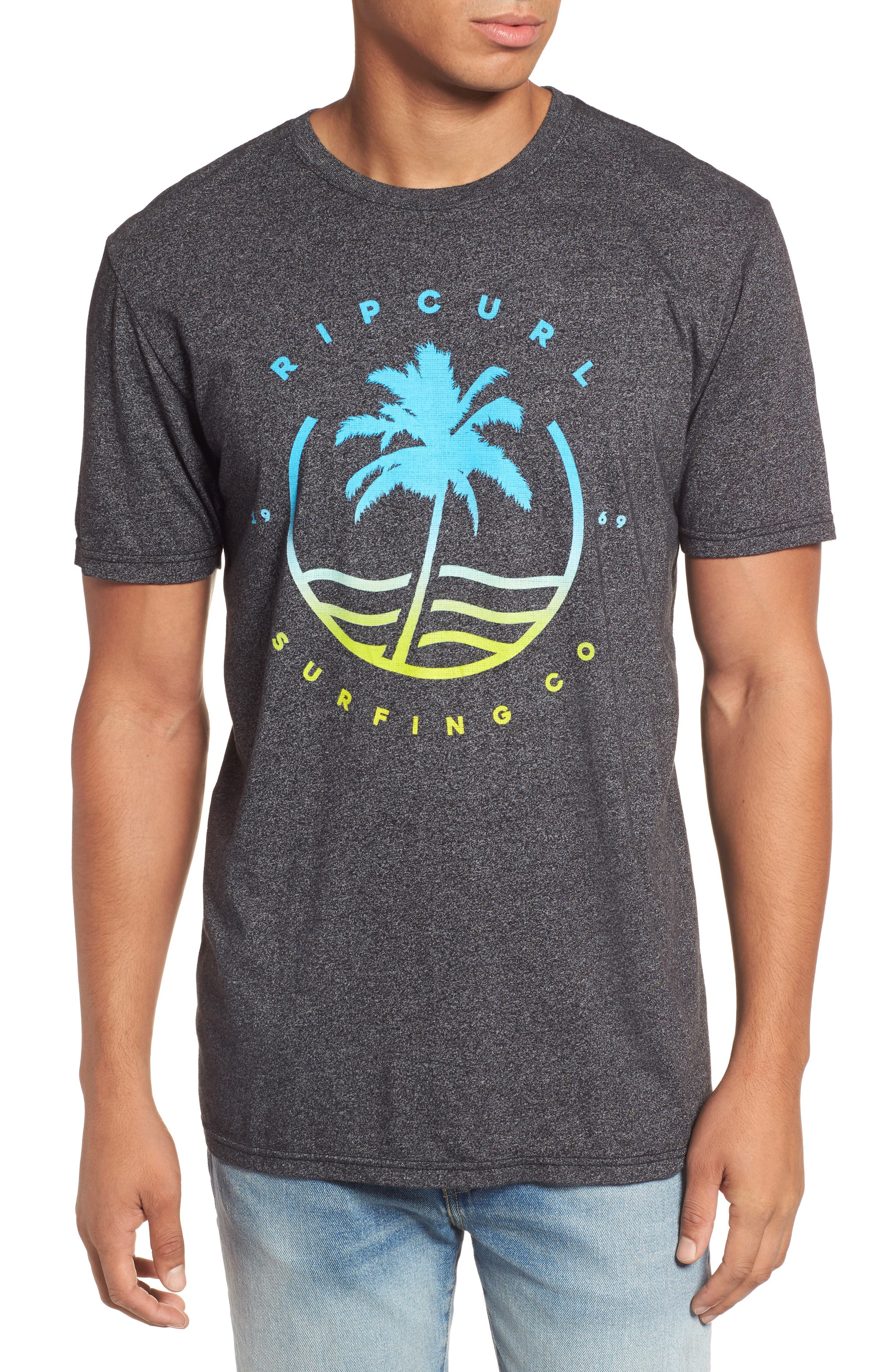 Alternate Image 1 Selected - Rip Curl Bliss Mock Twist Graphic T-Shirt
