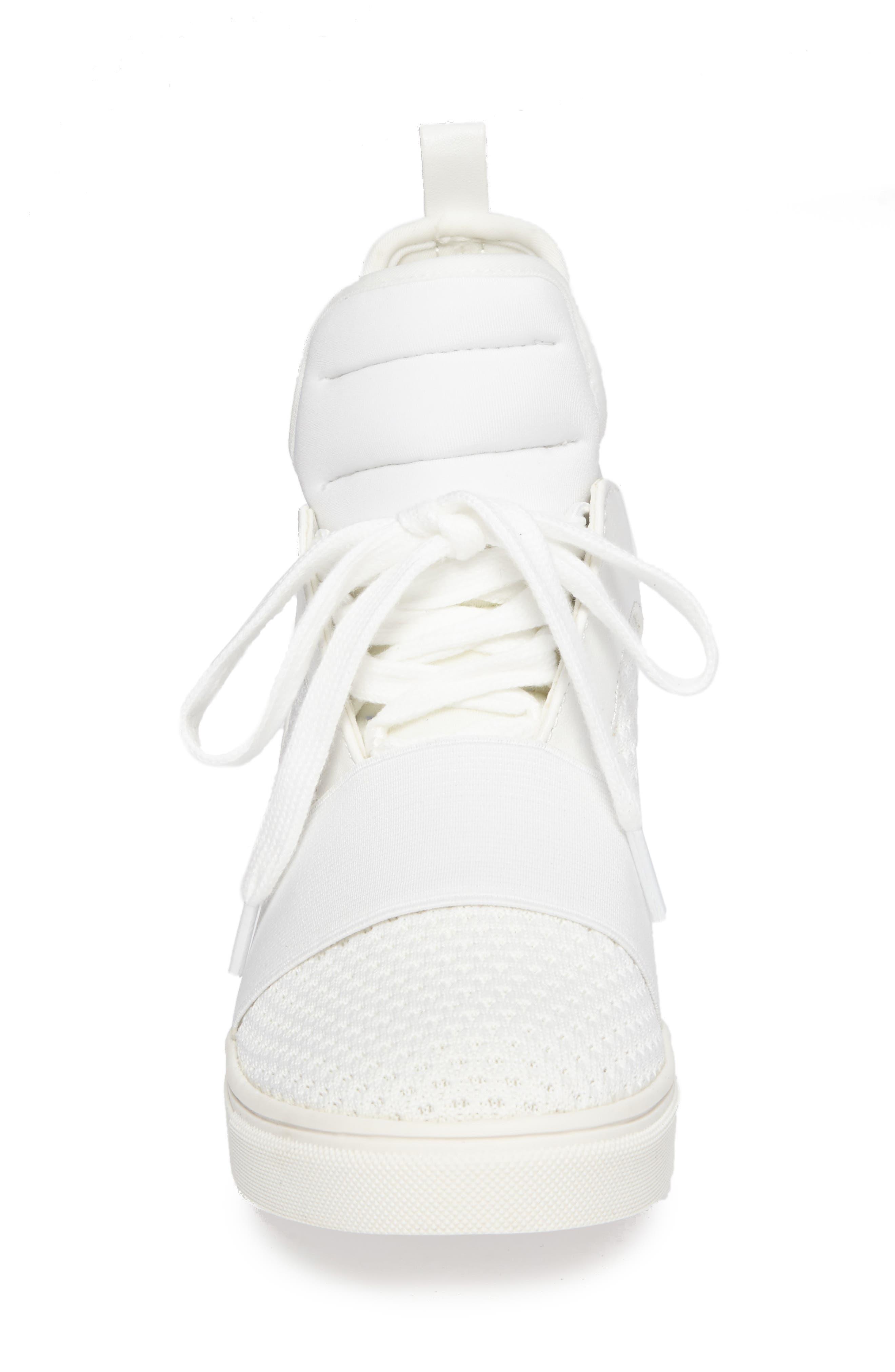 Lexie Wedge Sneaker,                             Alternate thumbnail 4, color,                             White
