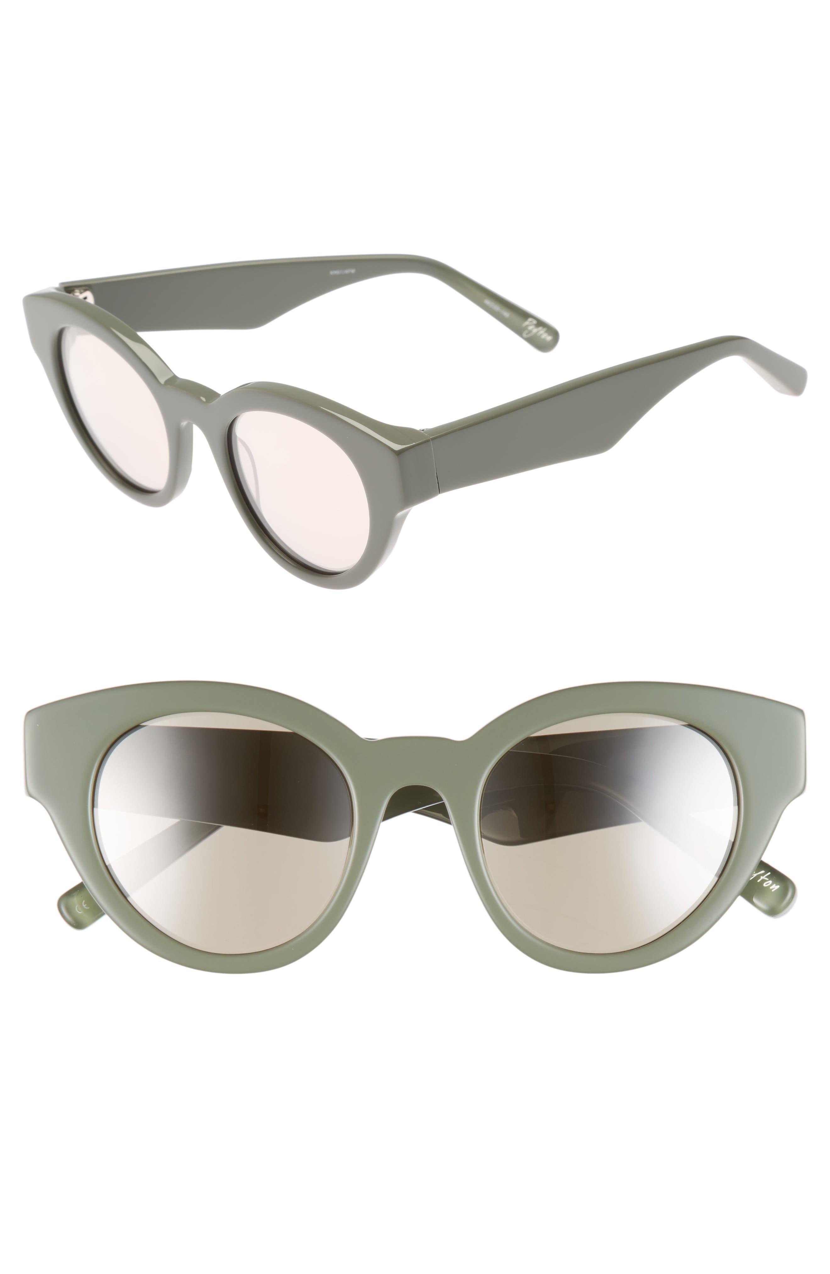 Payton 48mm Cat Eye Sunglasses,                             Main thumbnail 1, color,                             Khaki