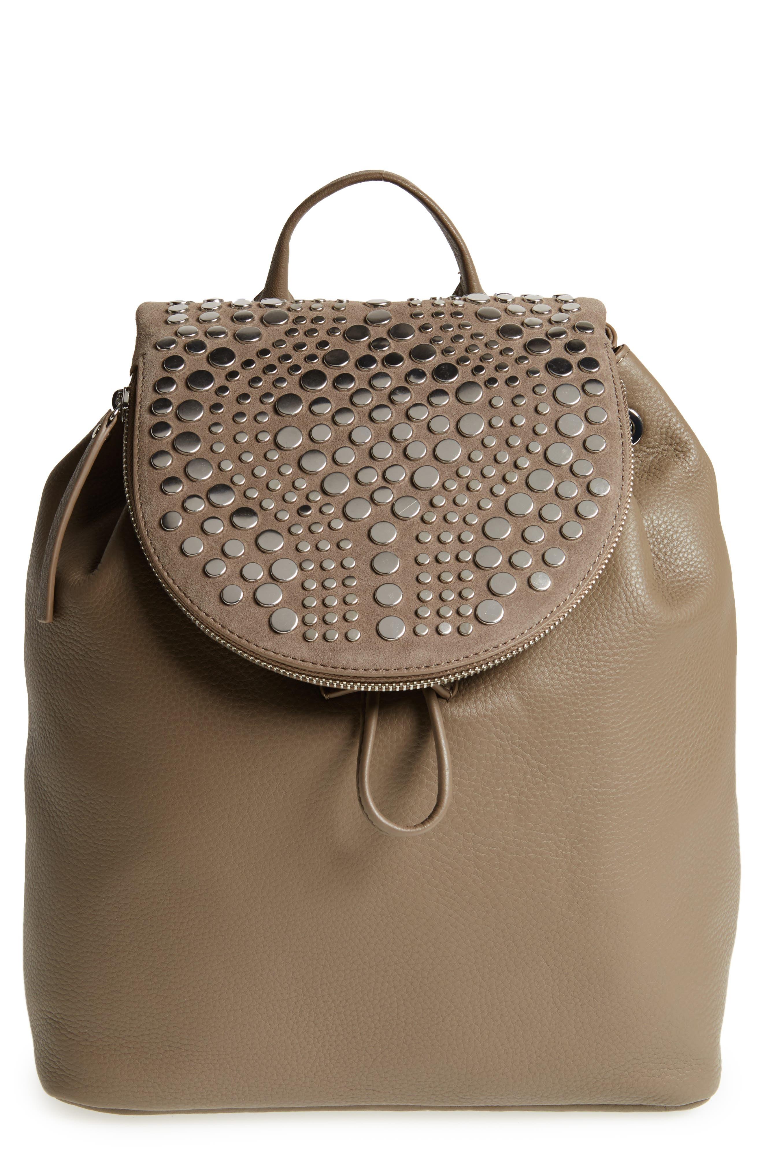 Vince Camuto Bonny Studded Leather Backpack