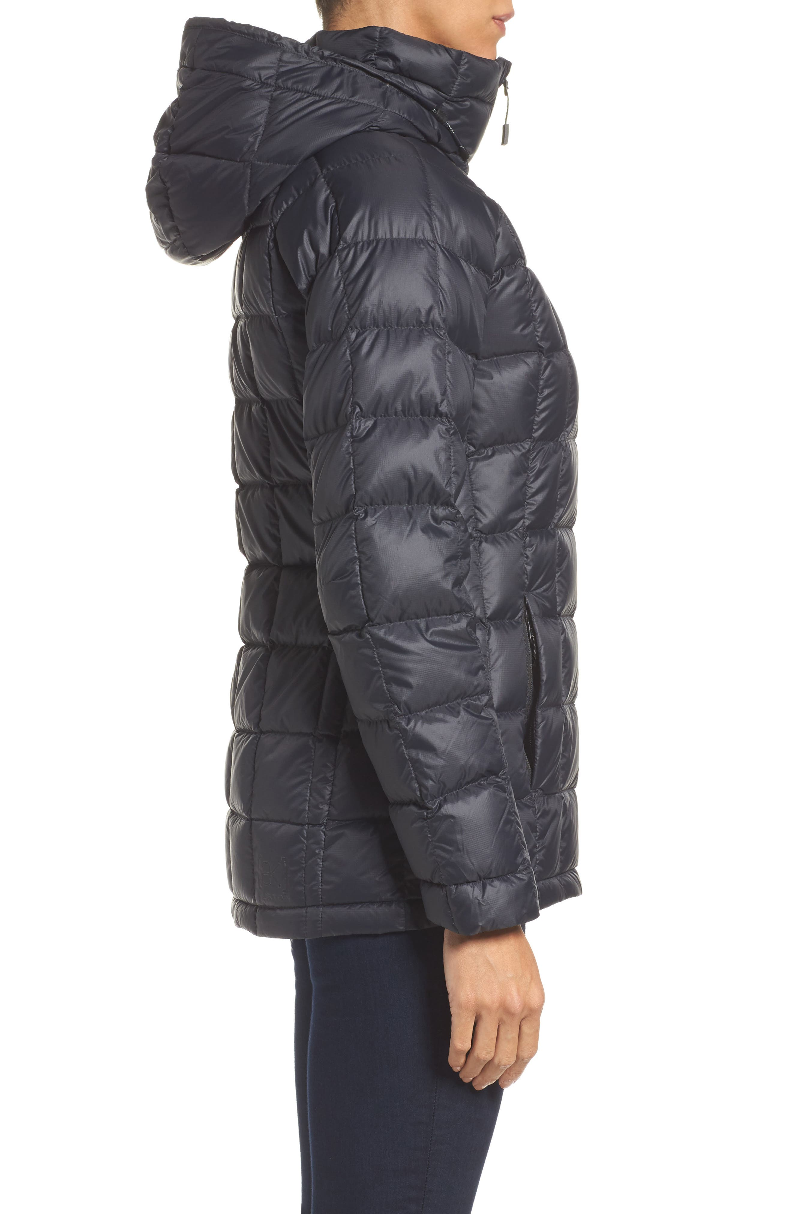 AK Baker Waterproof Quilted Down Insulator Jacket with Removable Hood,                             Alternate thumbnail 3, color,                             True Black