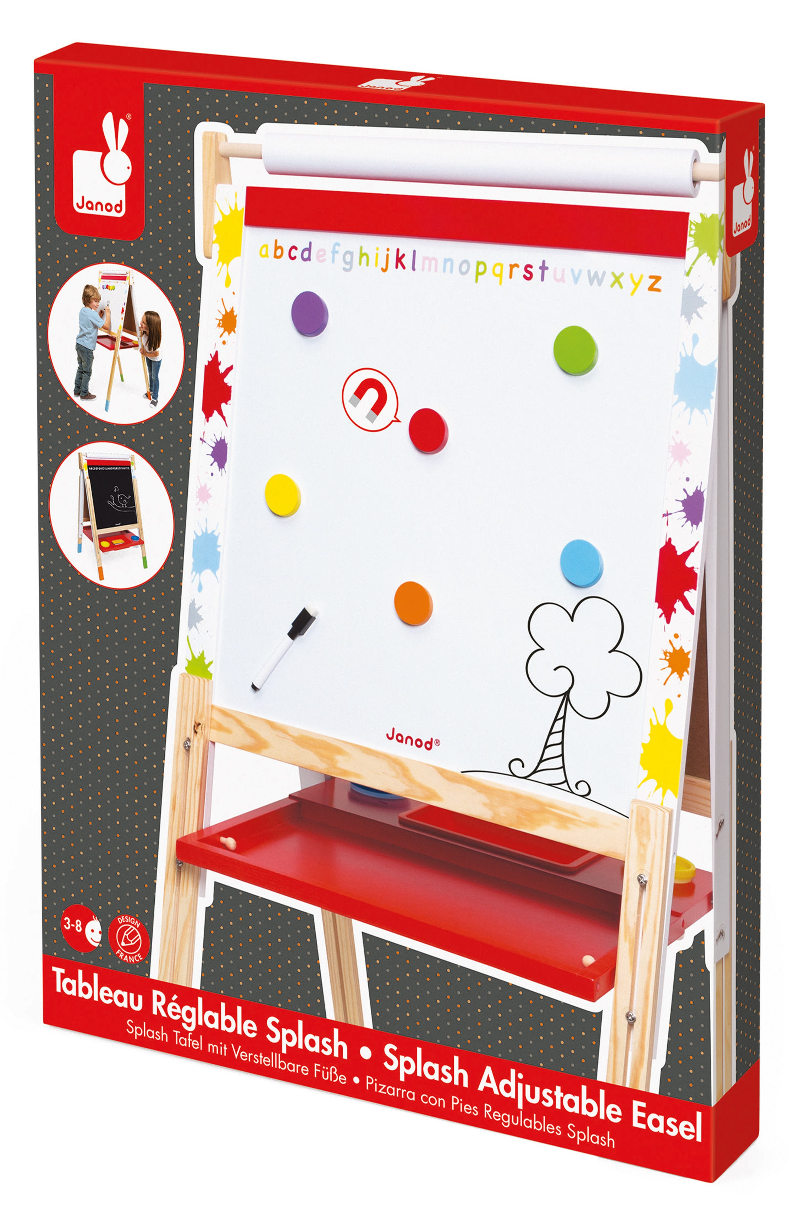Adjustable Easel,                             Alternate thumbnail 4, color,                             Red/ White