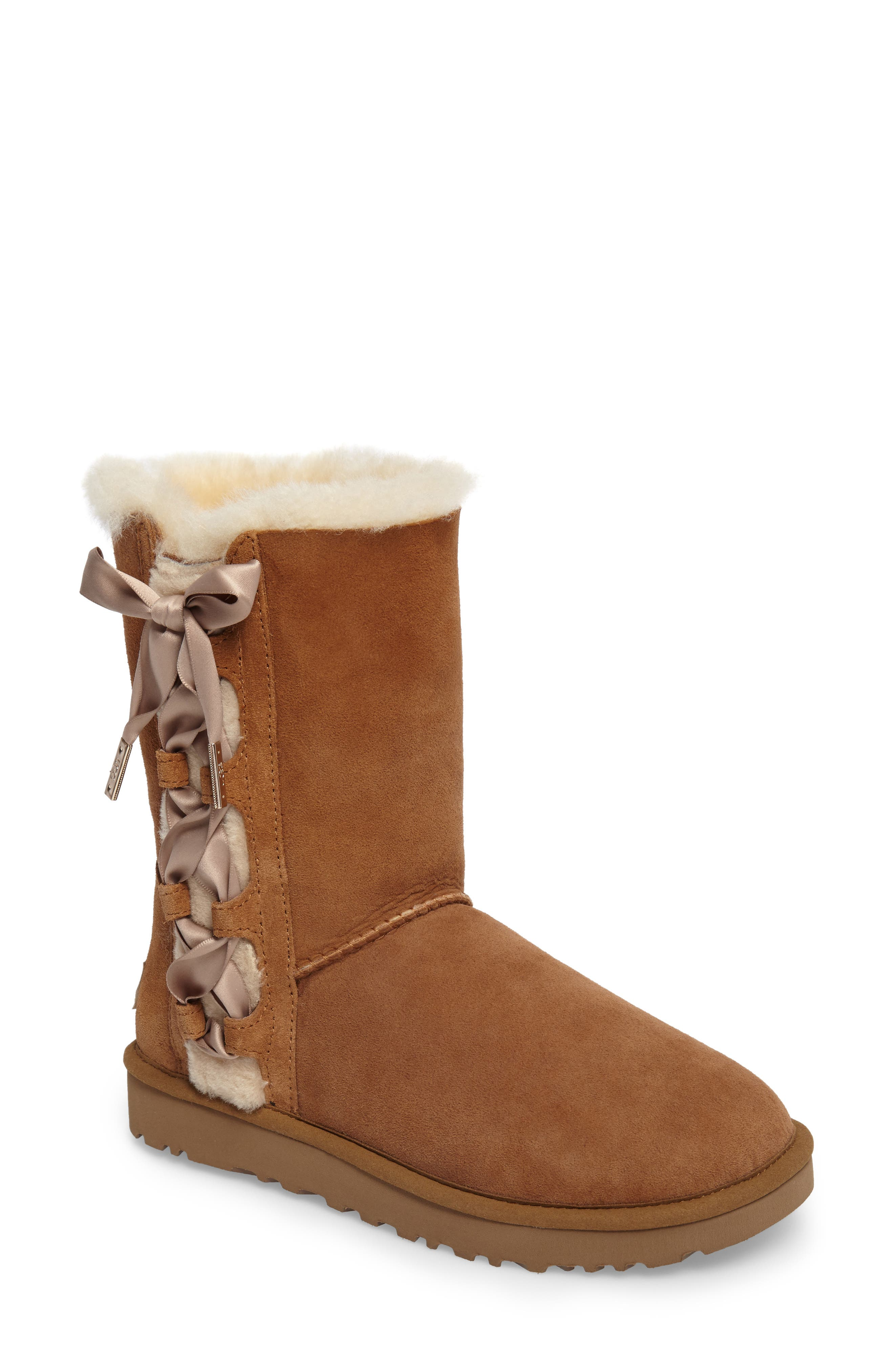 Pala Boot,                             Main thumbnail 1, color,                             Chestnut Suede