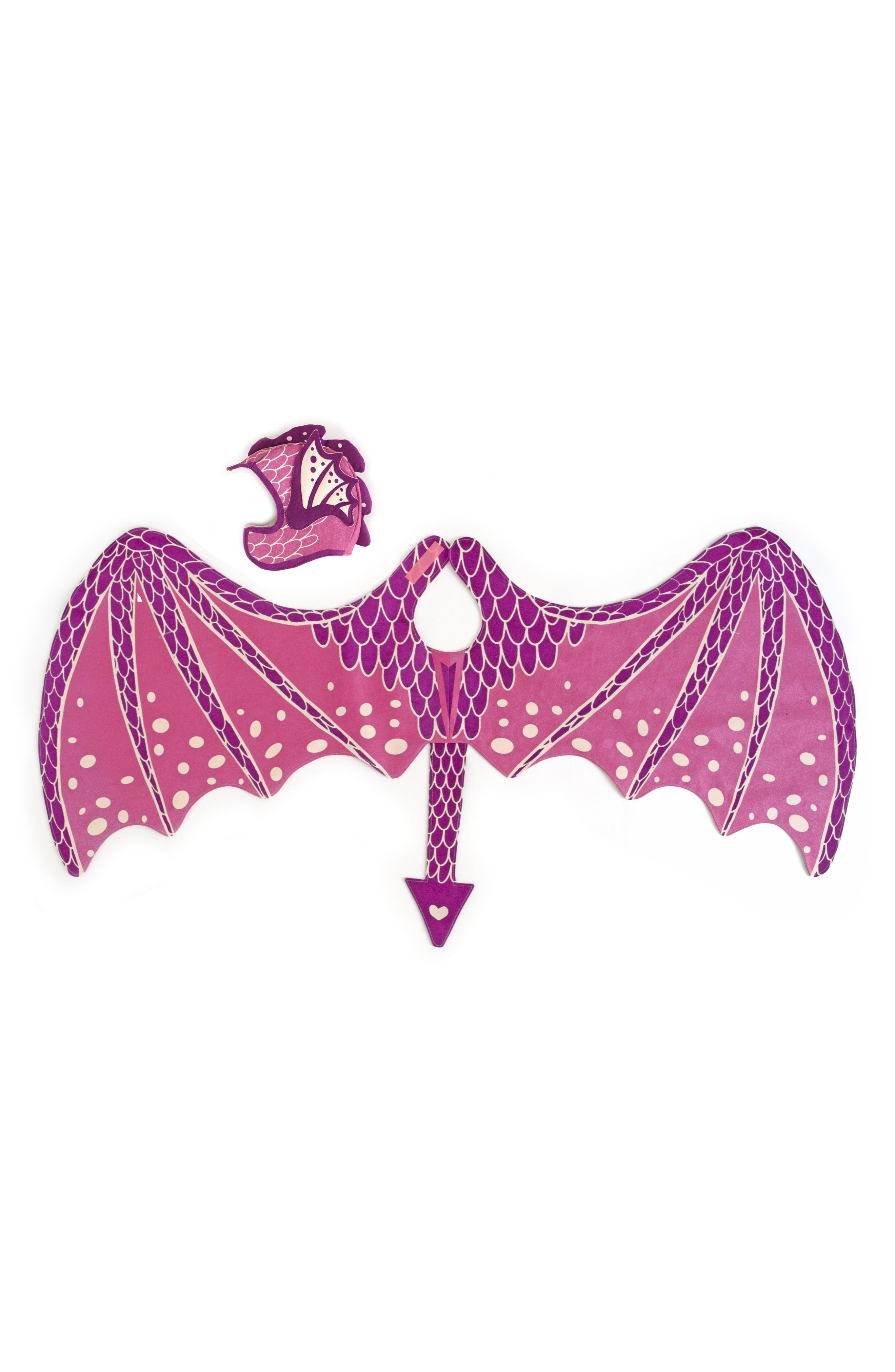 Dragon Wings & Hat Costume Set,                         Main,                         color, Pink