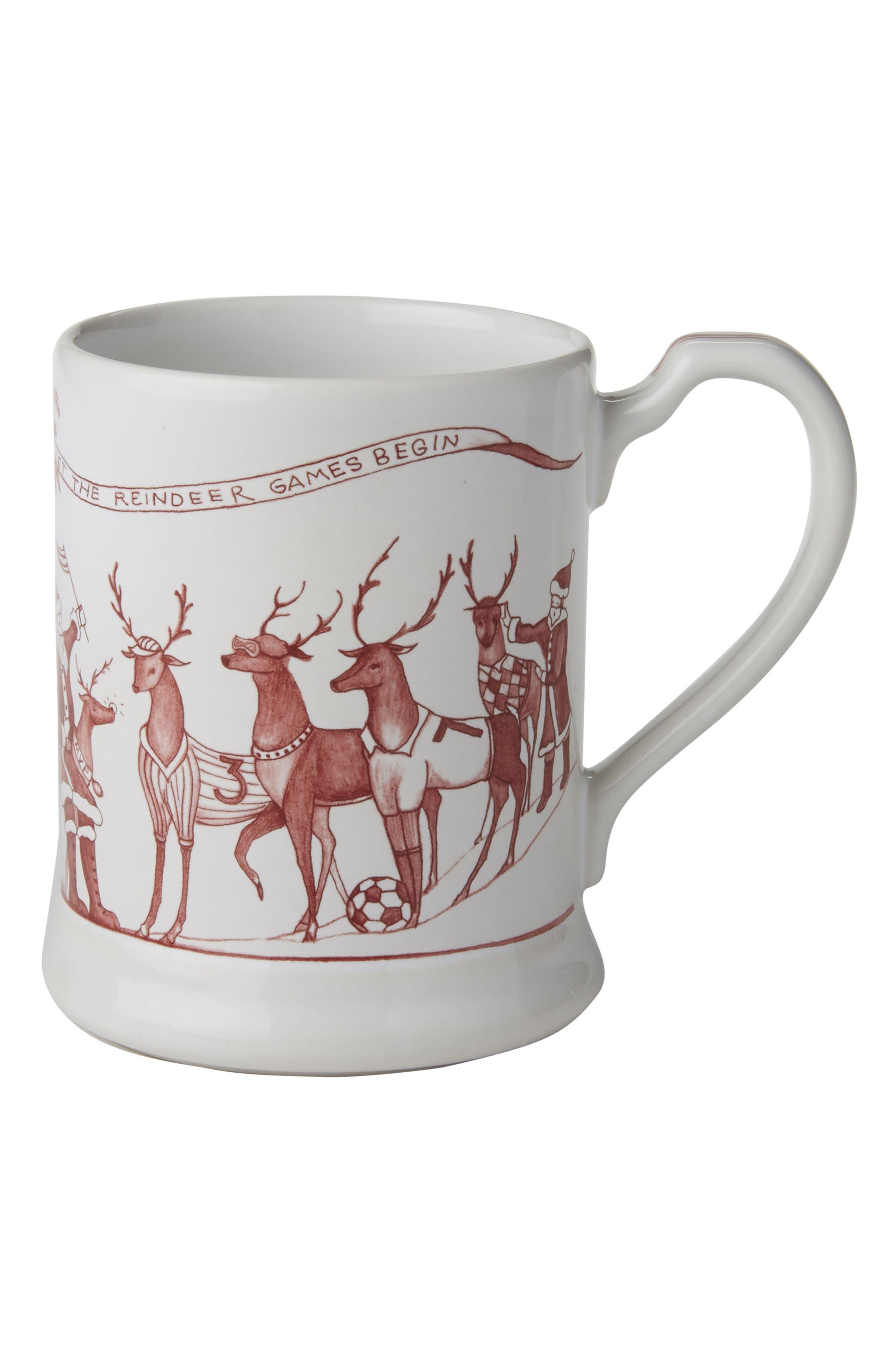 Alternate Image 1 Selected - Juliska Reindeer Games Ceramic Mug