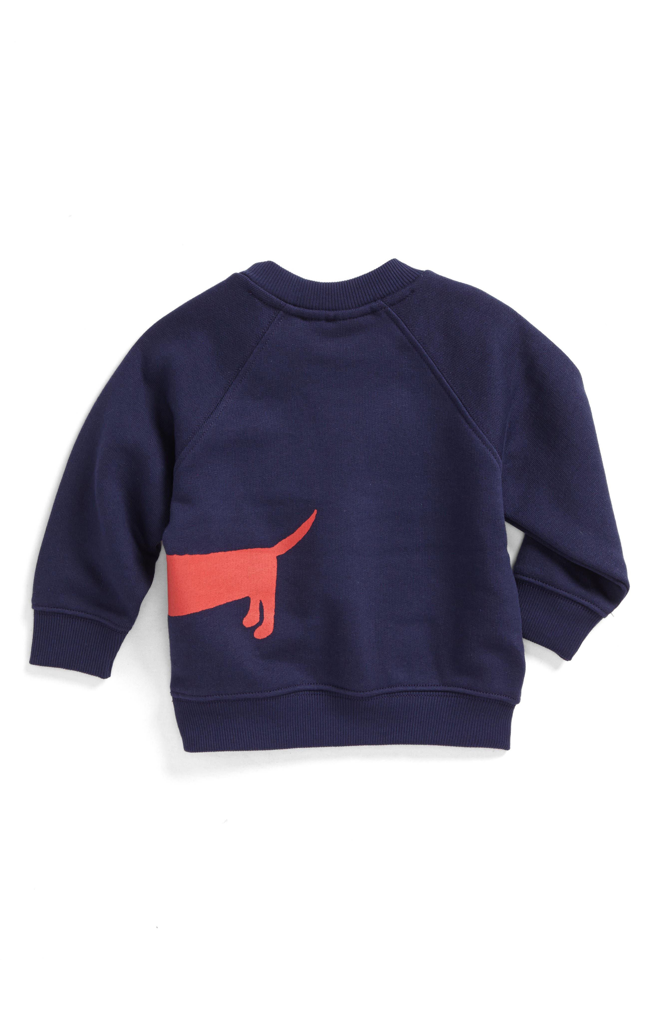Alternate Image 2  - Mini Rodini Dog Sweatshirt (Baby Boys)