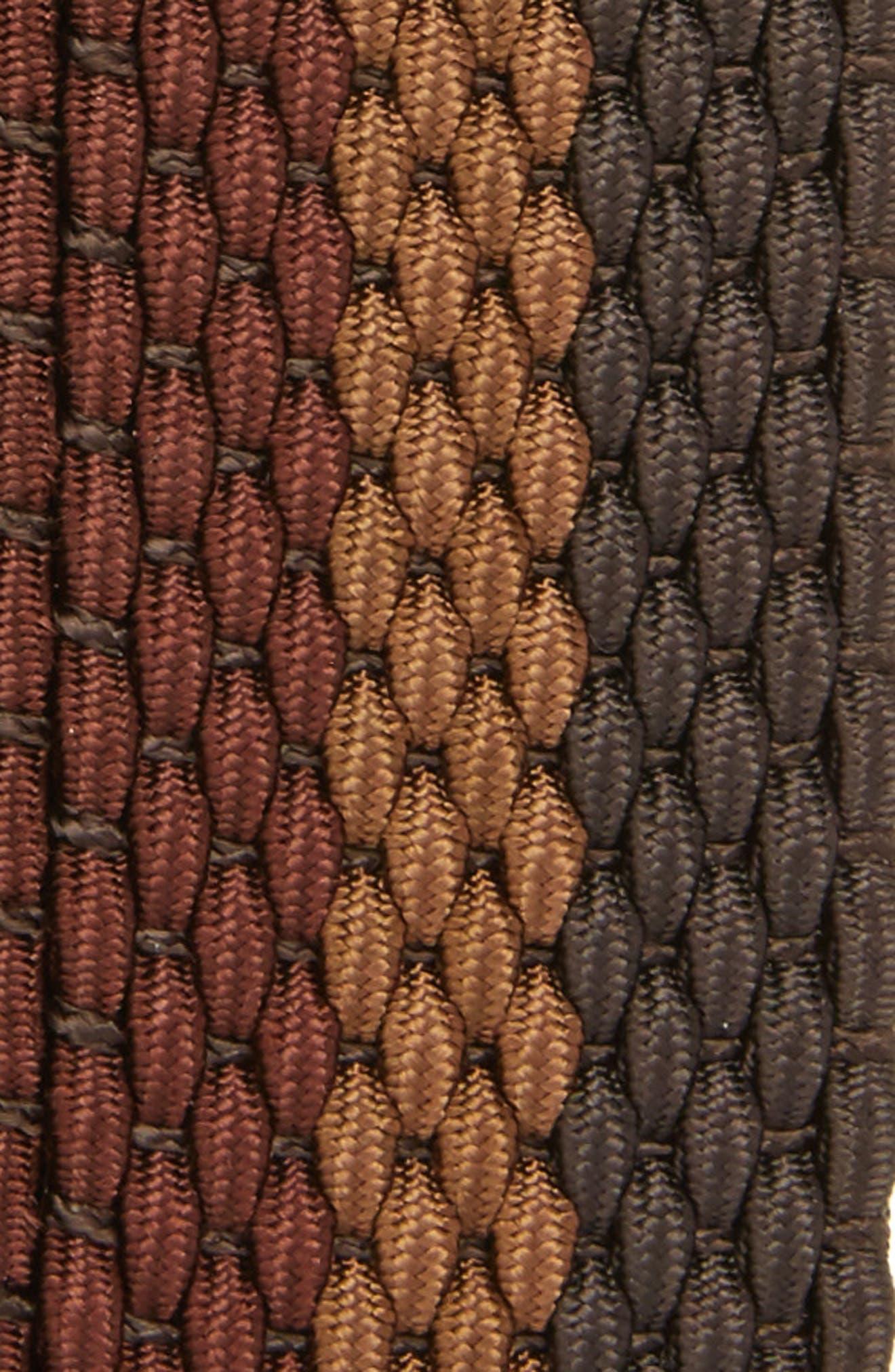 Tri Stripe Reversible Woven Belt,                             Alternate thumbnail 3, color,                             Espresso/ Cocoa/ Coffee