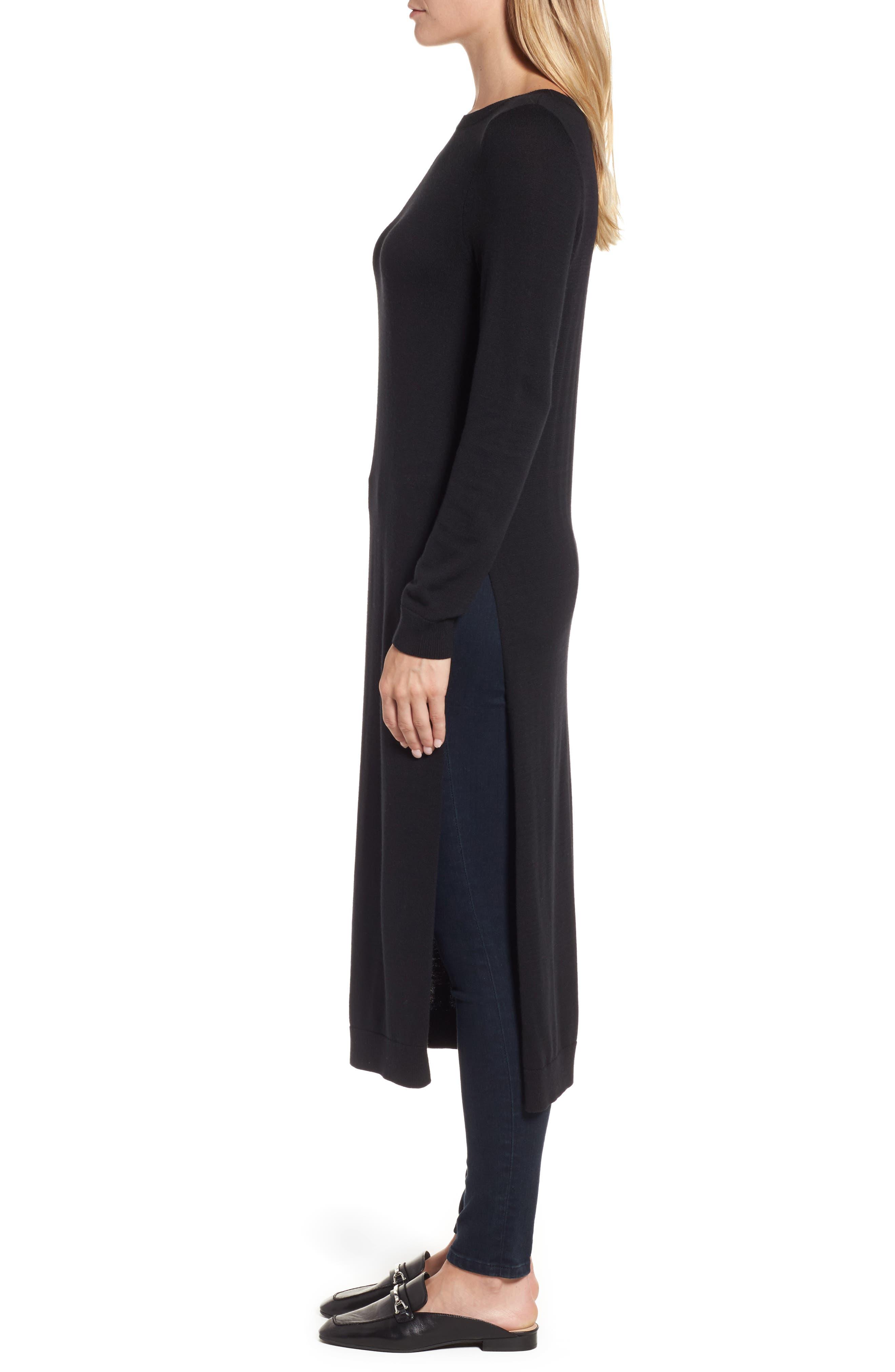 Alternate Image 3  - Halogen® Side Slit Tunic Sweater