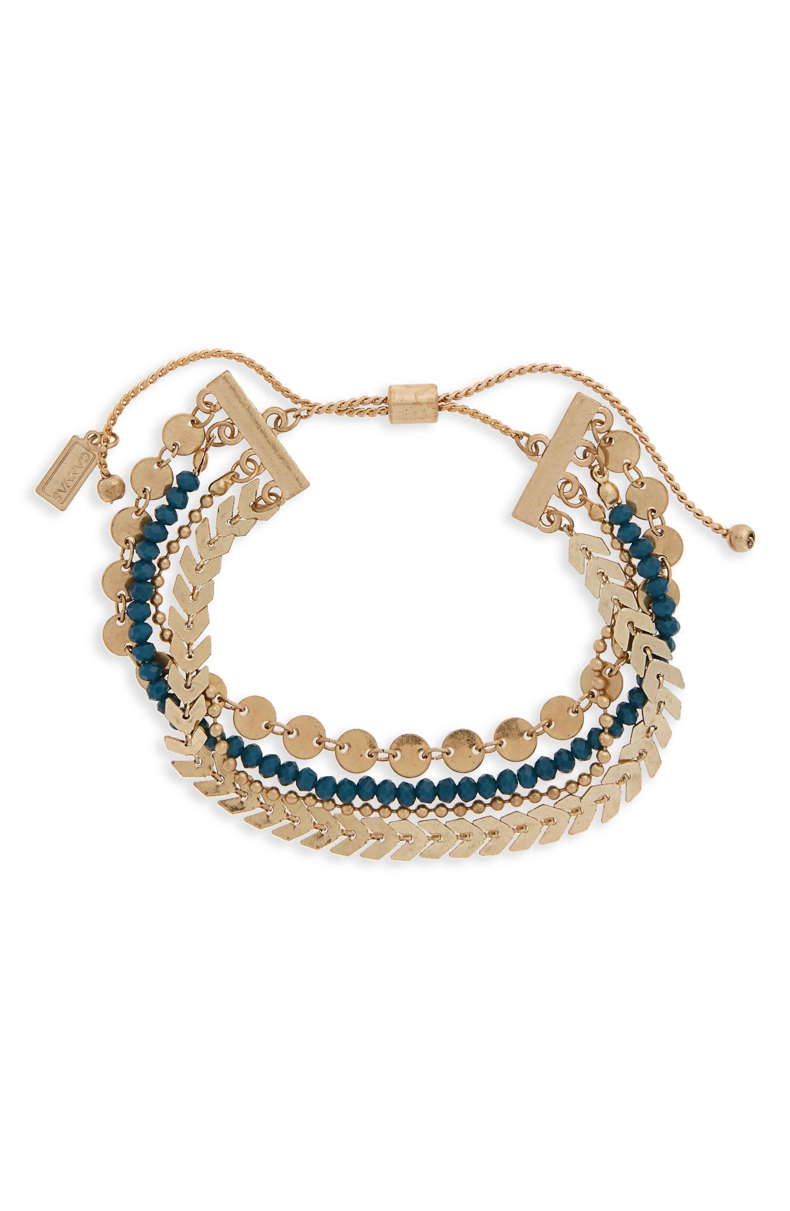 Beaded Friendship Bracelet,                         Main,                         color, Teal