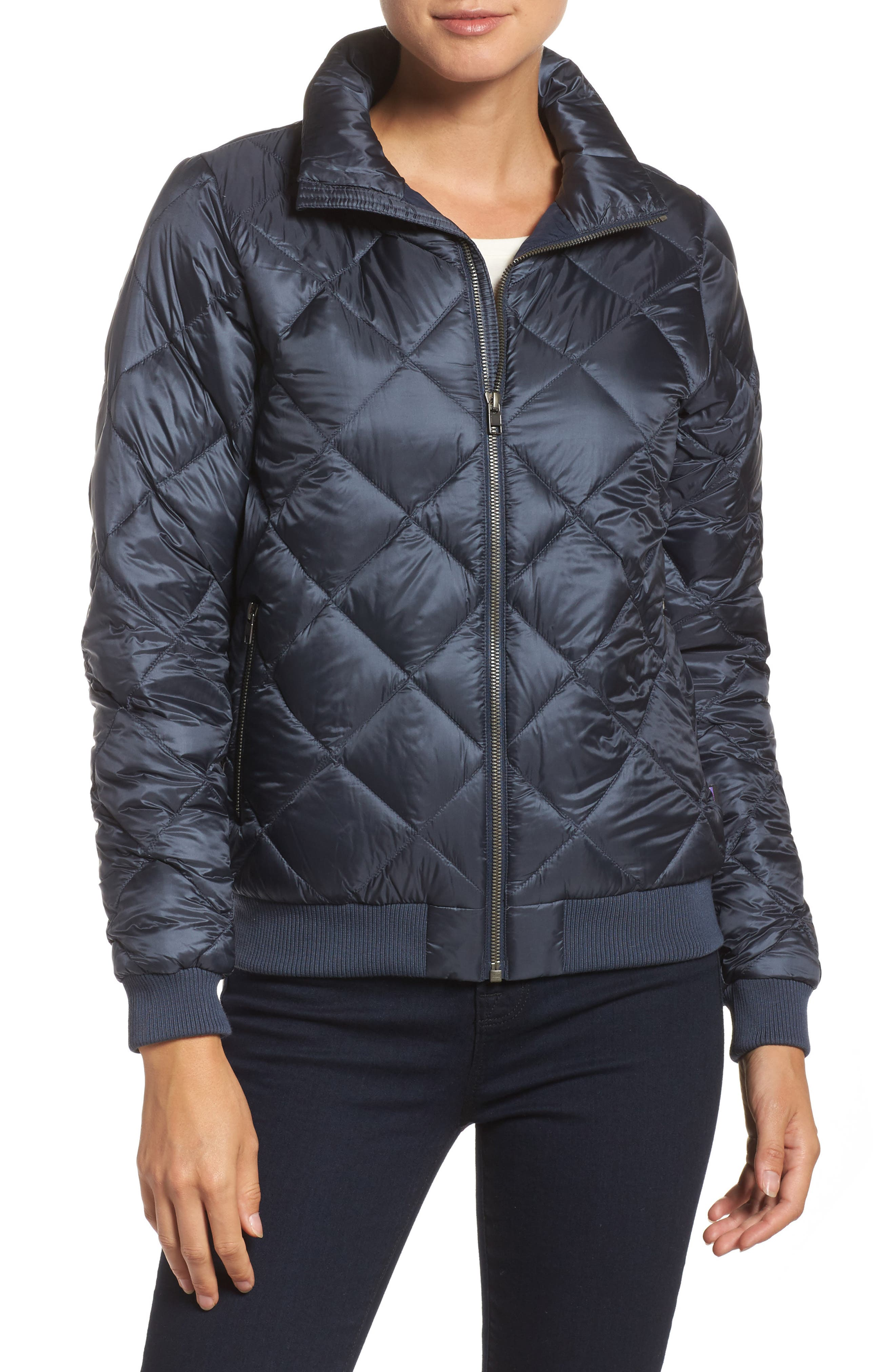 Prow Down Bomber Jacket,                         Main,                         color, Smolder Blue