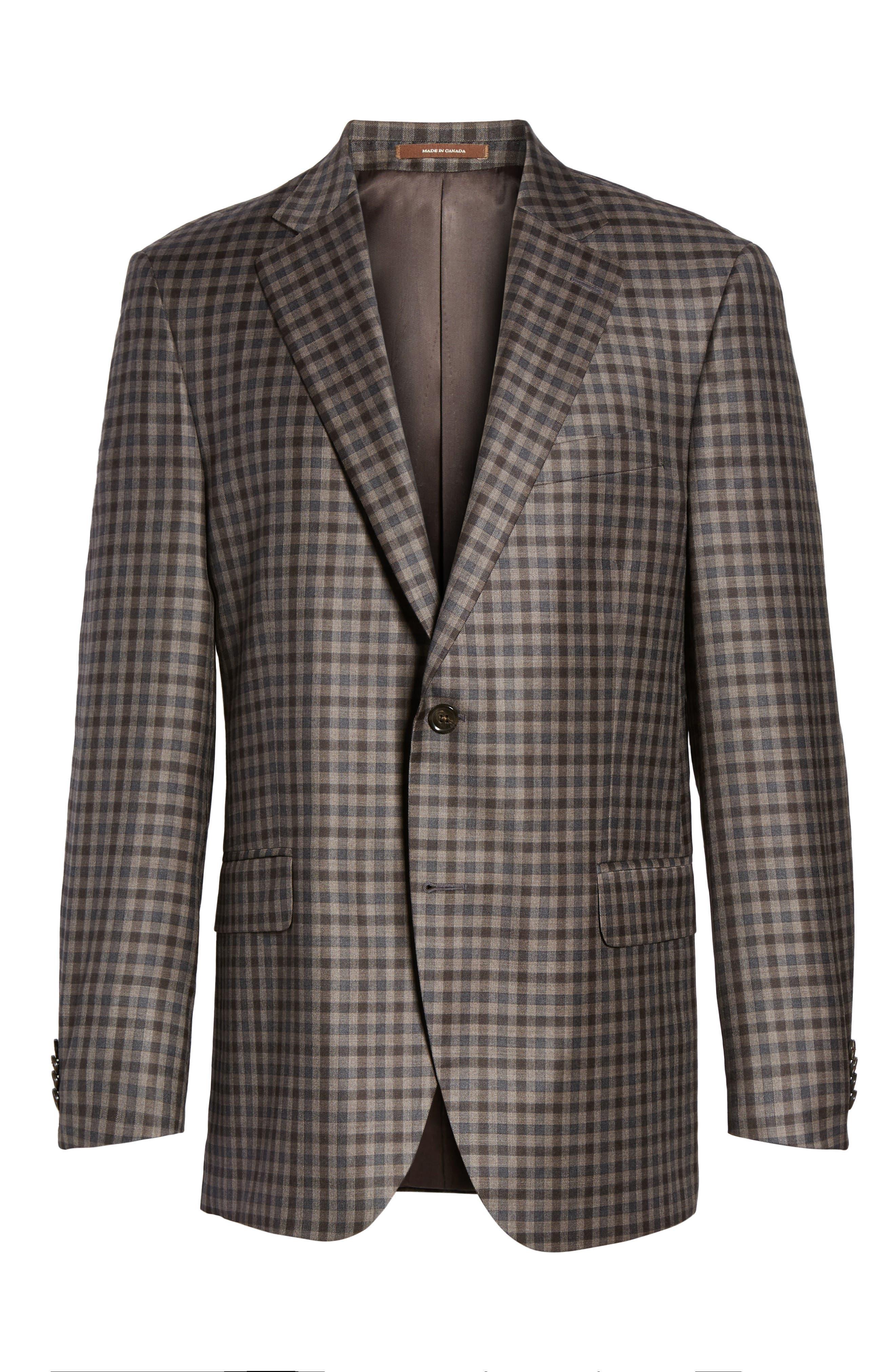 Alternate Image 6  - Peter Millar Flynn Classic Fit Check Wool Sport Coat