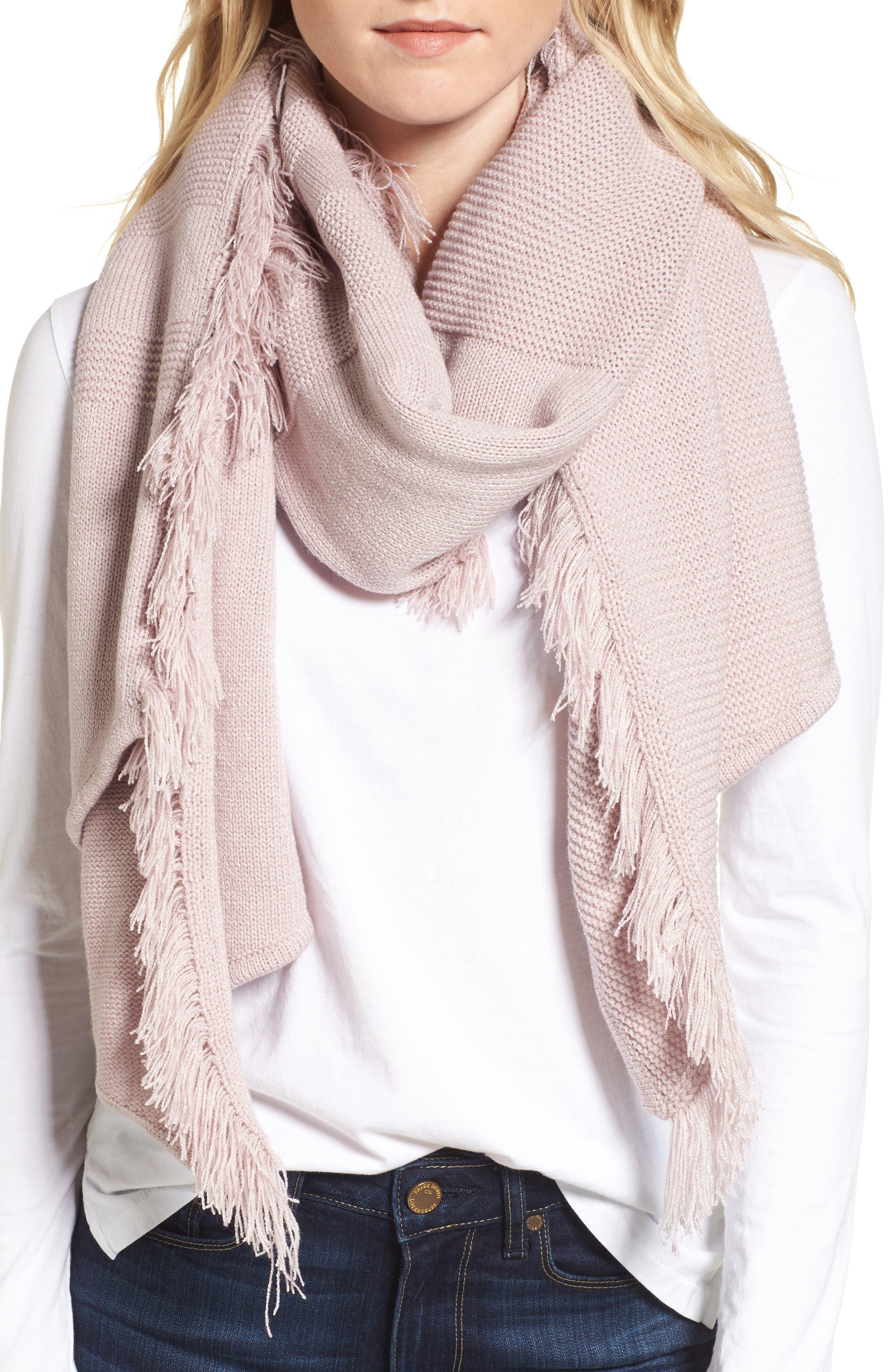 Rebecca Minkoff Garter Stripe Stitch Blanket Scarf