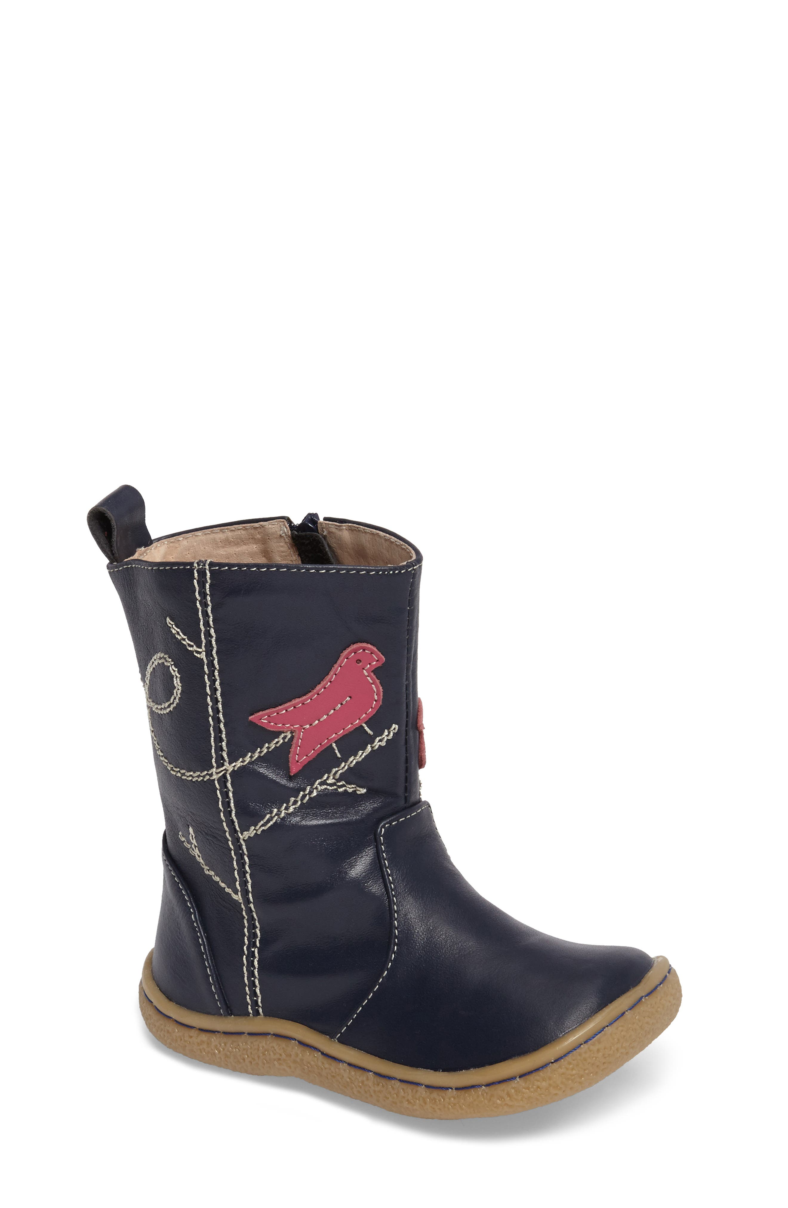 Livie & Luca Pio Pio Bird Appliqué Boot (Baby, Walker, Toddler & Little Kid)