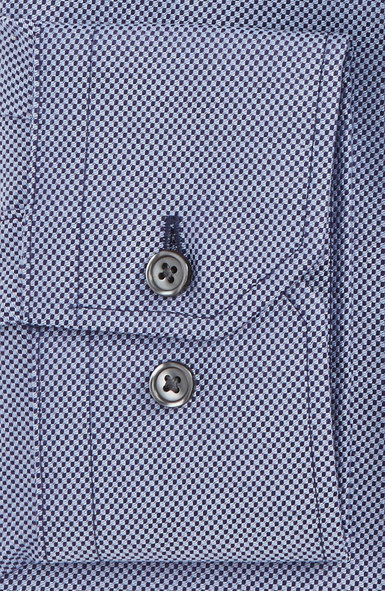 Trim Fit Dress Shirt,                             Alternate thumbnail 2, color,                             Blue Amparo