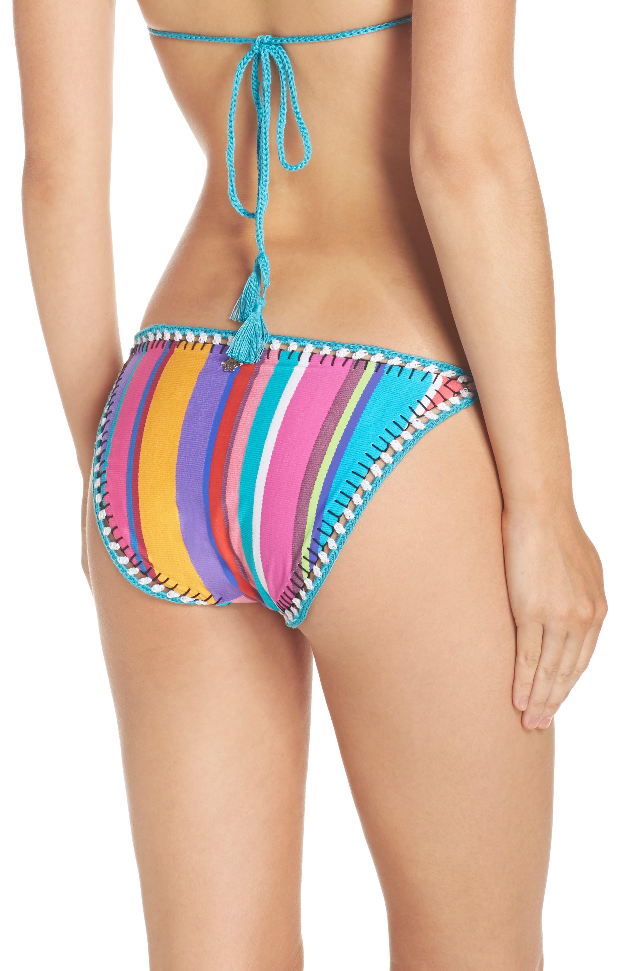 Sayulita Vamp Bikini Bottoms,                             Alternate thumbnail 2, color,                             Multi
