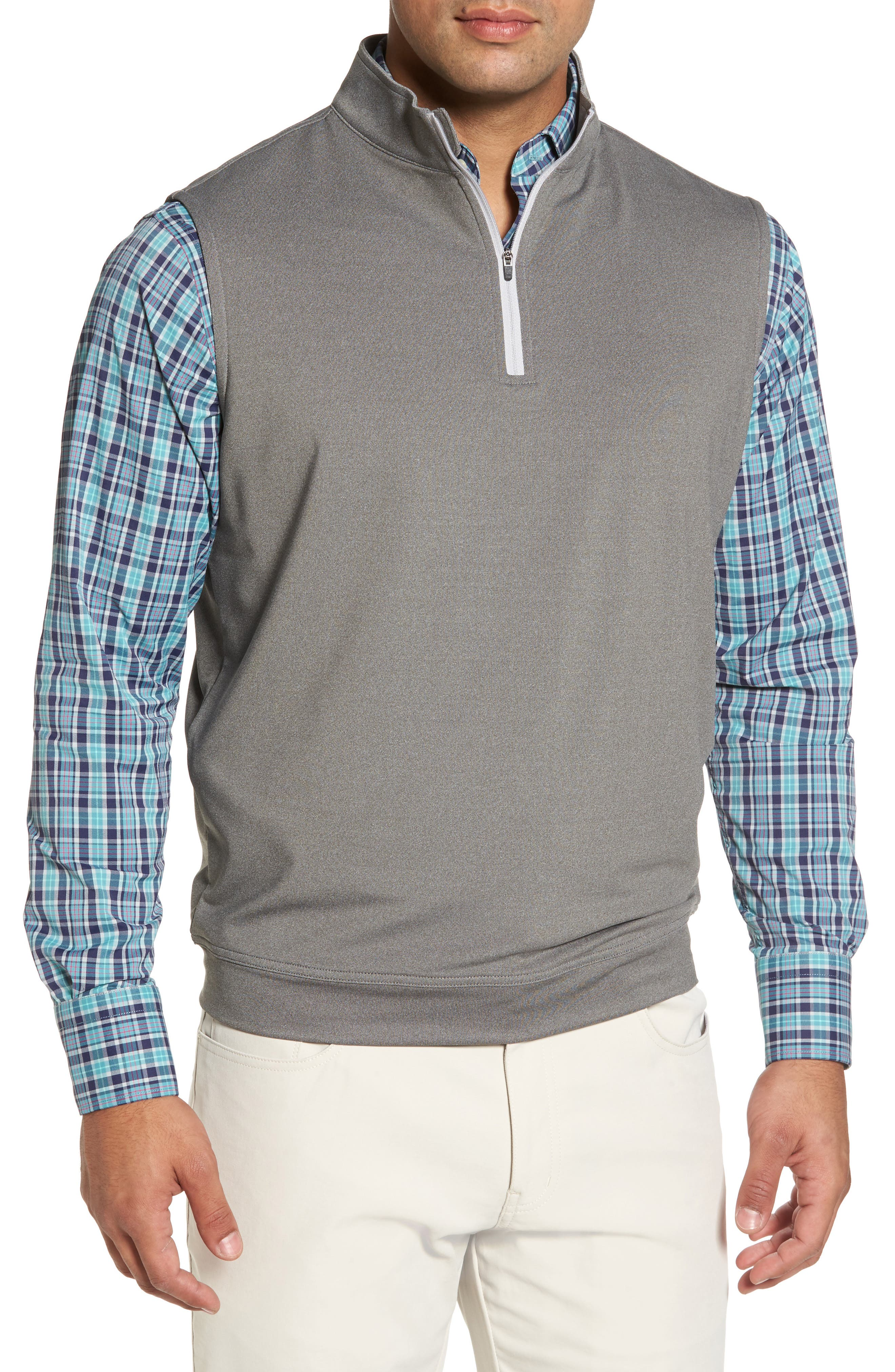 Peter Millar Galway Stretch Terry Quarter Zip Vest