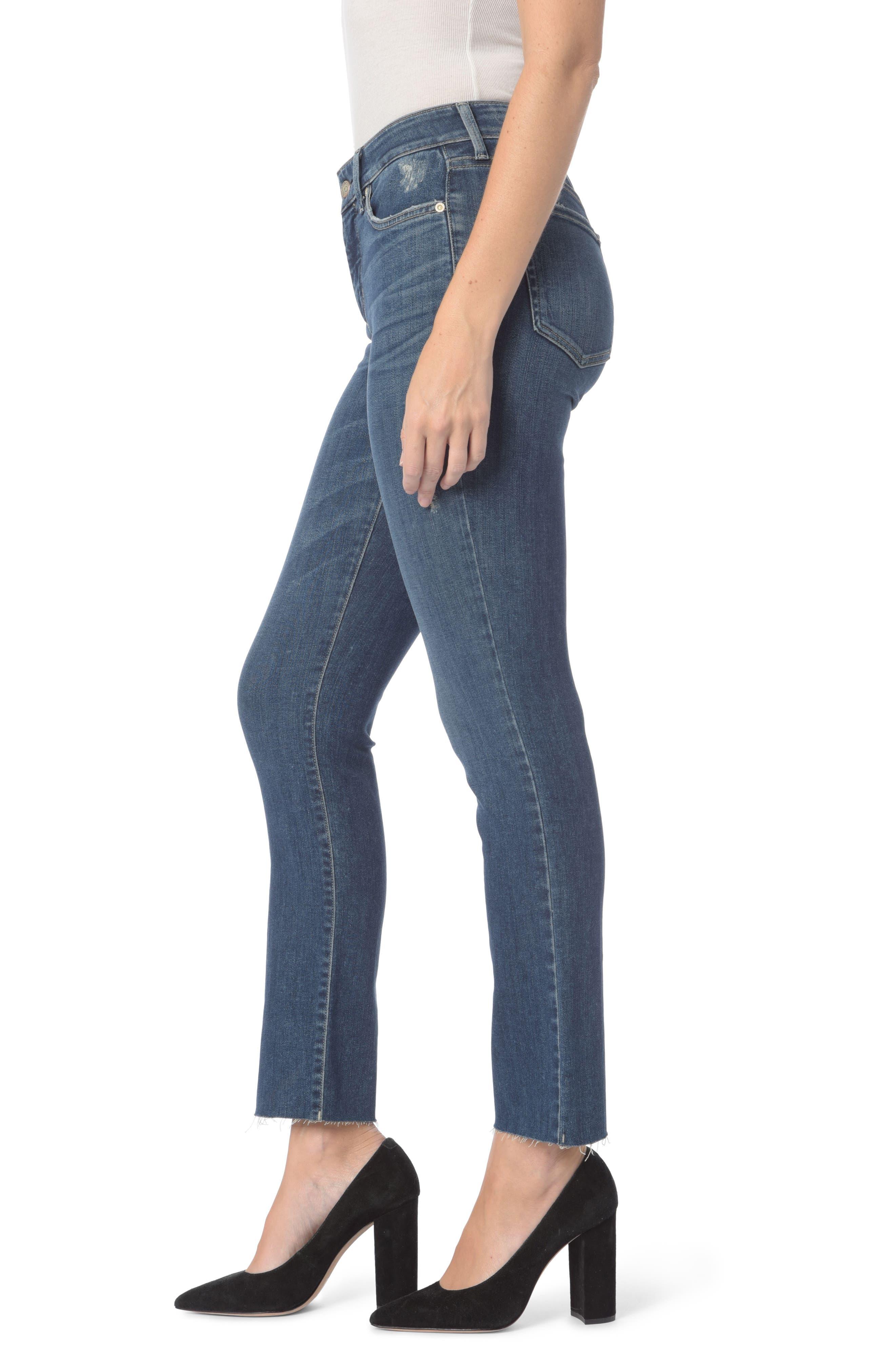 Sheri Raw Hem Stretch Slim Ankle Jeans,                             Alternate thumbnail 3, color,                             Parke