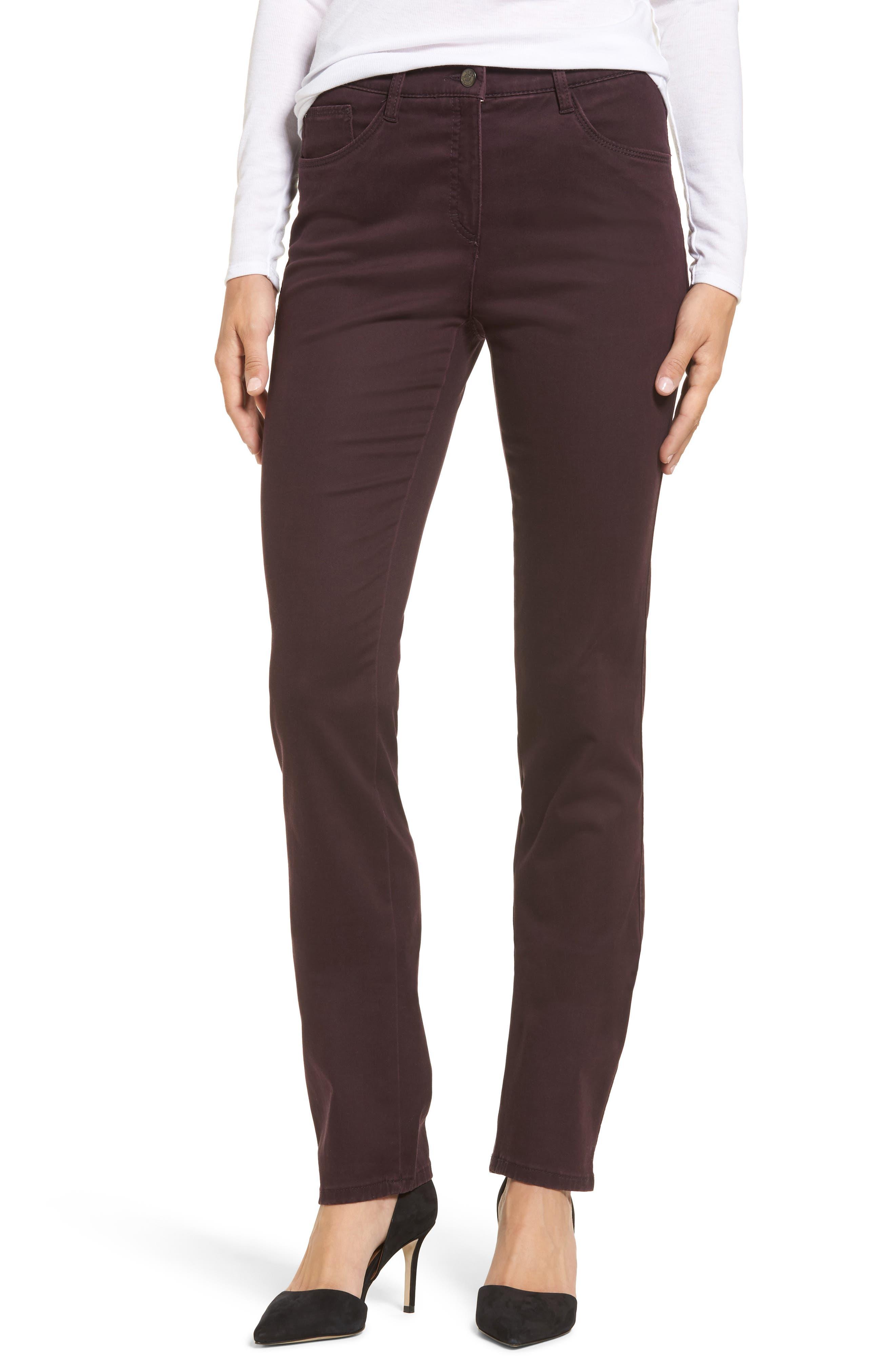 Straight Leg Pants,                         Main,                         color, Amarone